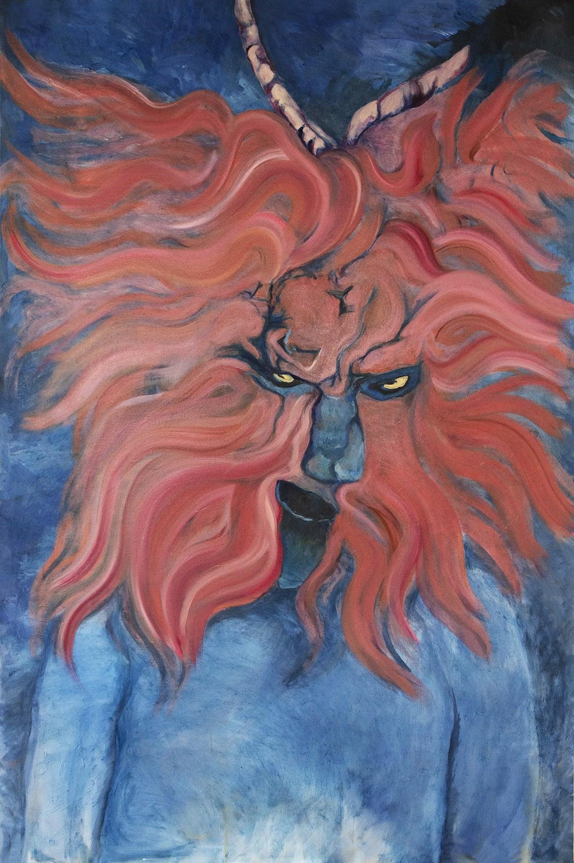 Riya Kacharava. Untitled (Red Mask)