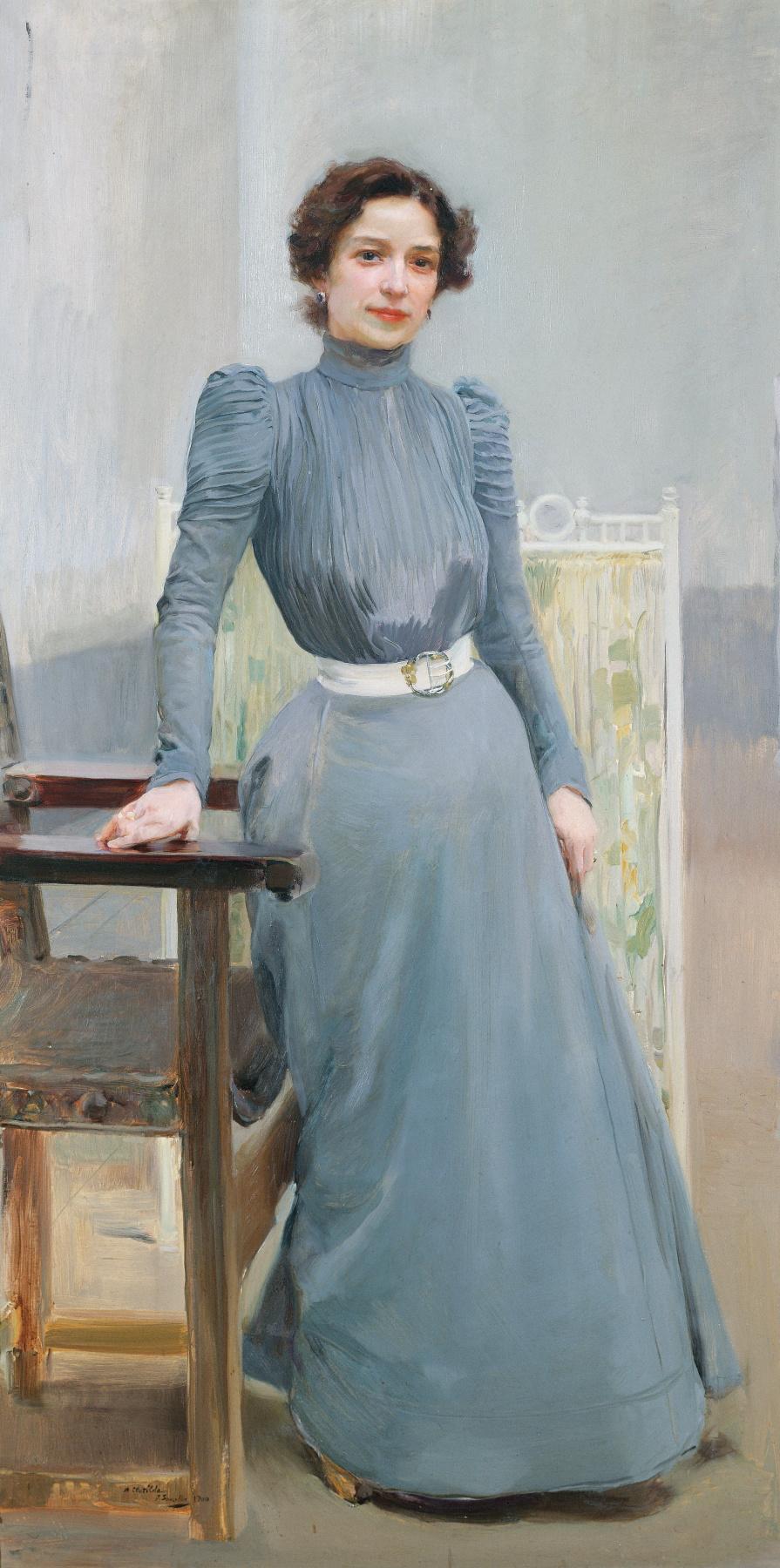 Хоакин Соролья (Соройя). Портрет Клотильды в сером платье