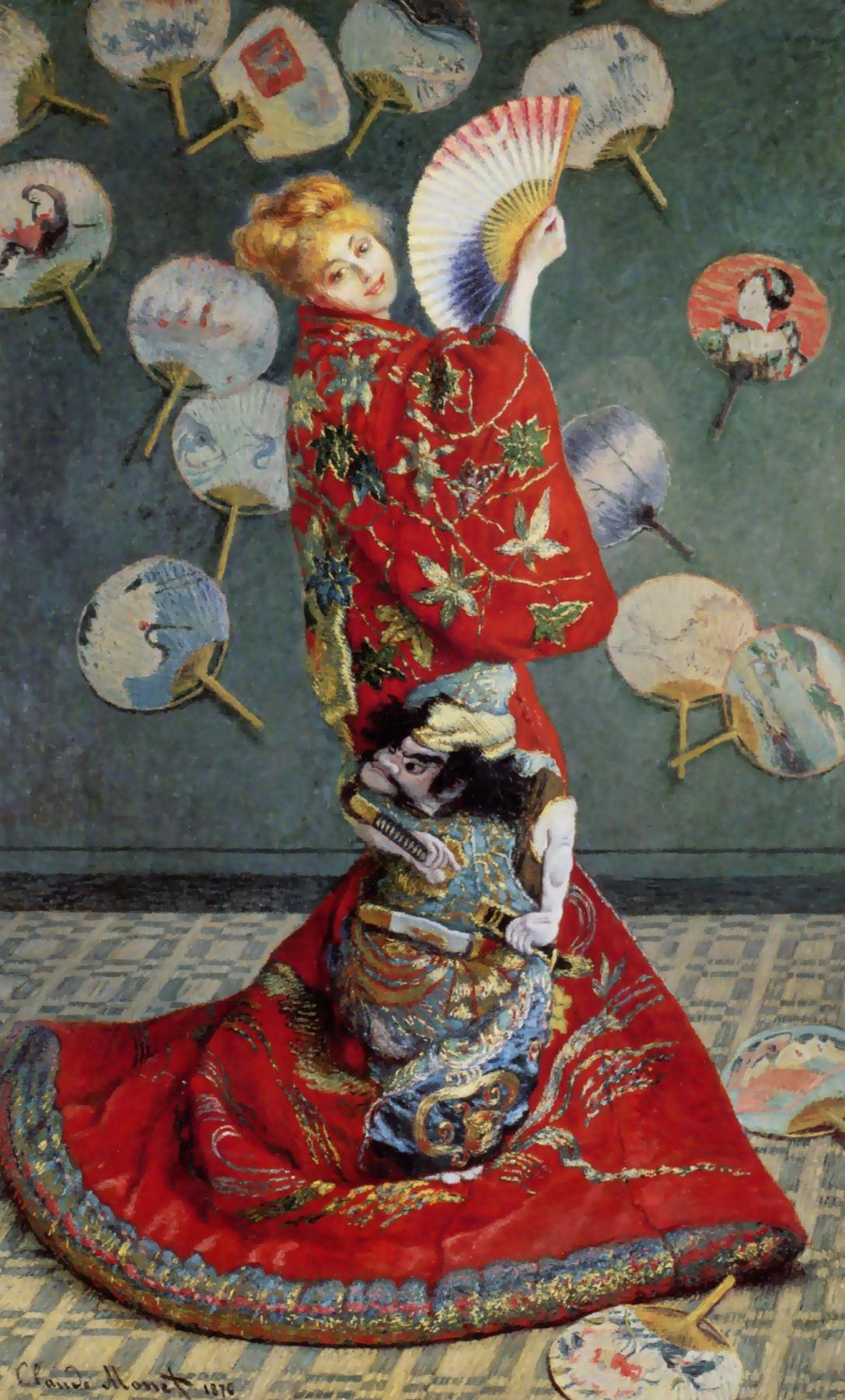 Claude Monet. La Japonaise. Camille in Japanese kimono