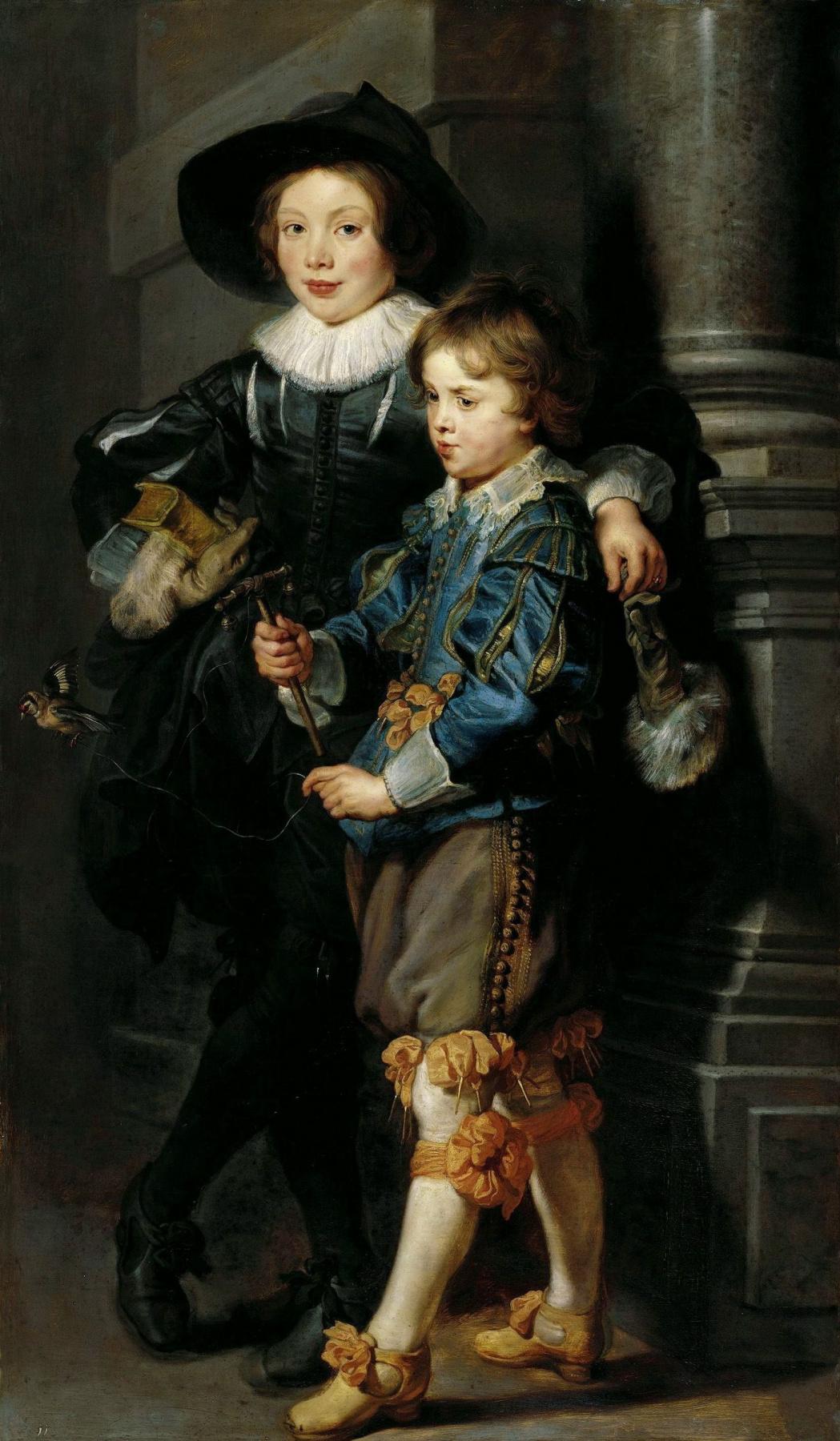 Peter Paul Rubens. Portrait of albert and Nicolas Rubens
