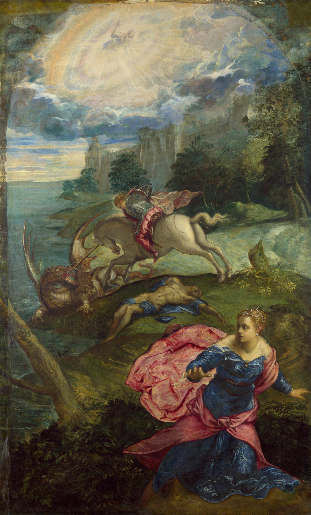Jacopo (Robusti) Tintoretto. St. George and the Dragon