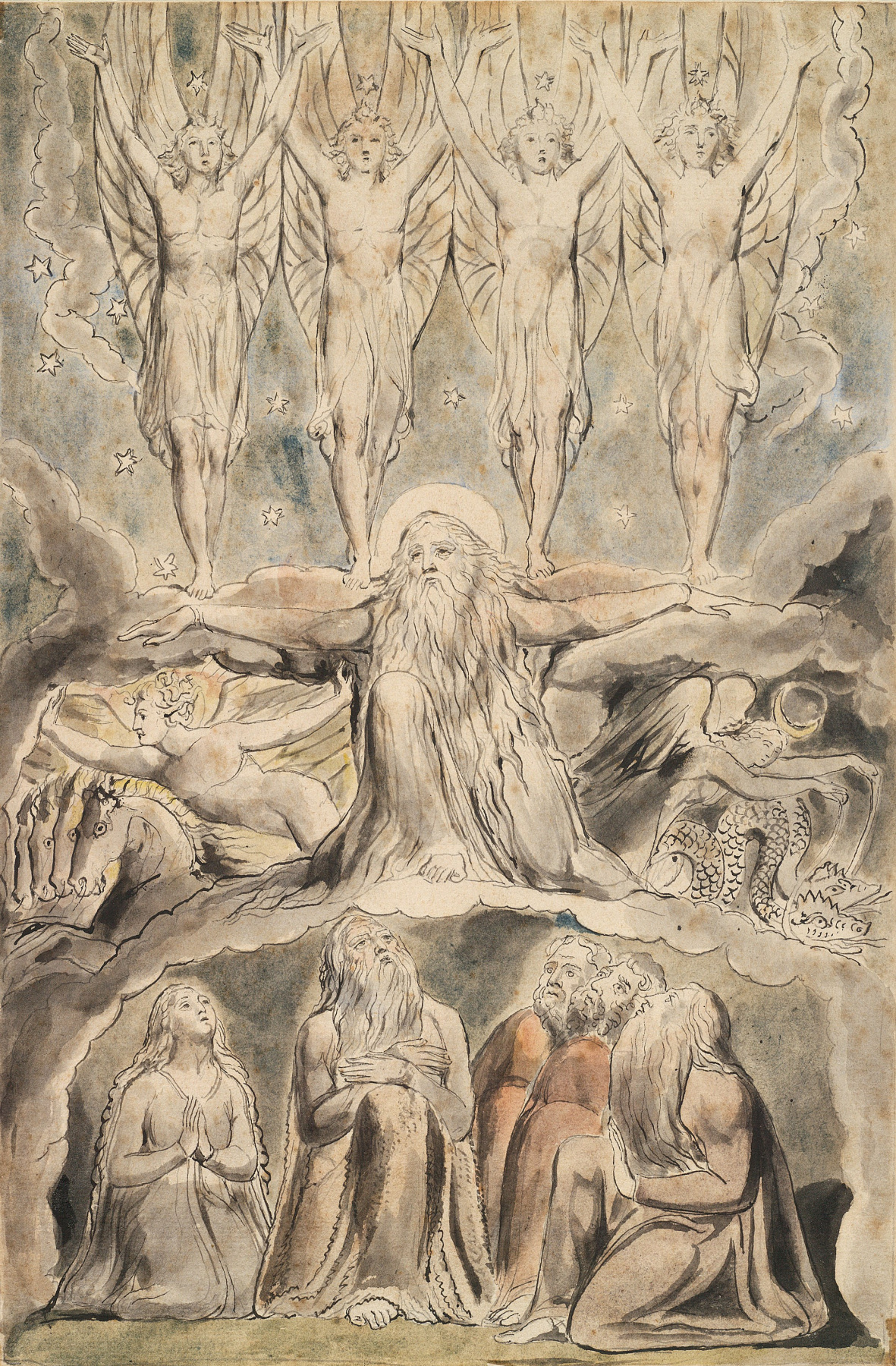 William Blake. The Book Of Job. When the morning stars sang together...