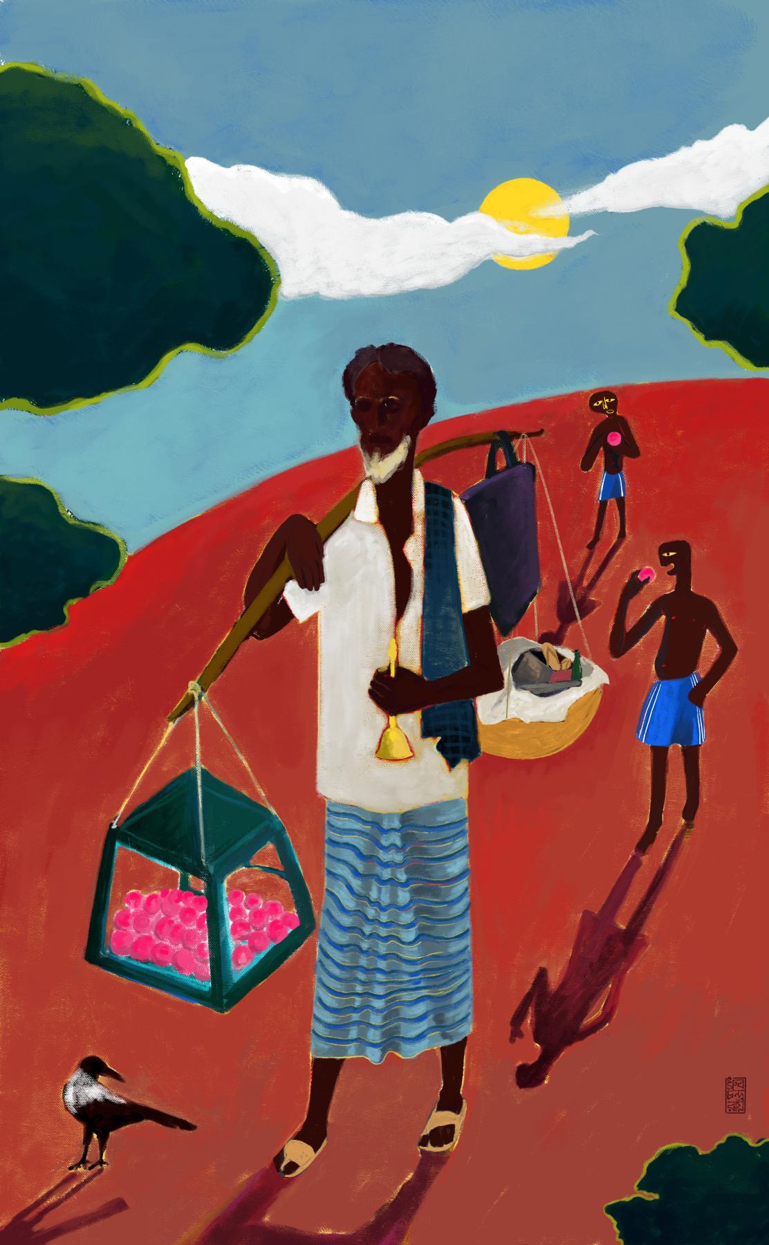 Dhruba Badhan. Cottoncandy seller