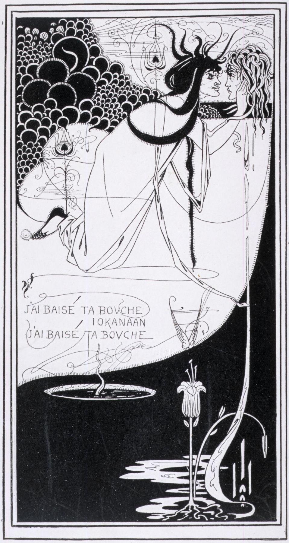 Обри Бердслей. Саломея с головой Иоанна Крестителя