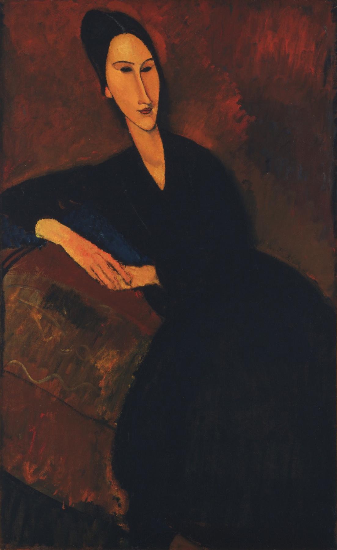 Amedeo Modigliani. Portrait Of Anna Zboriv