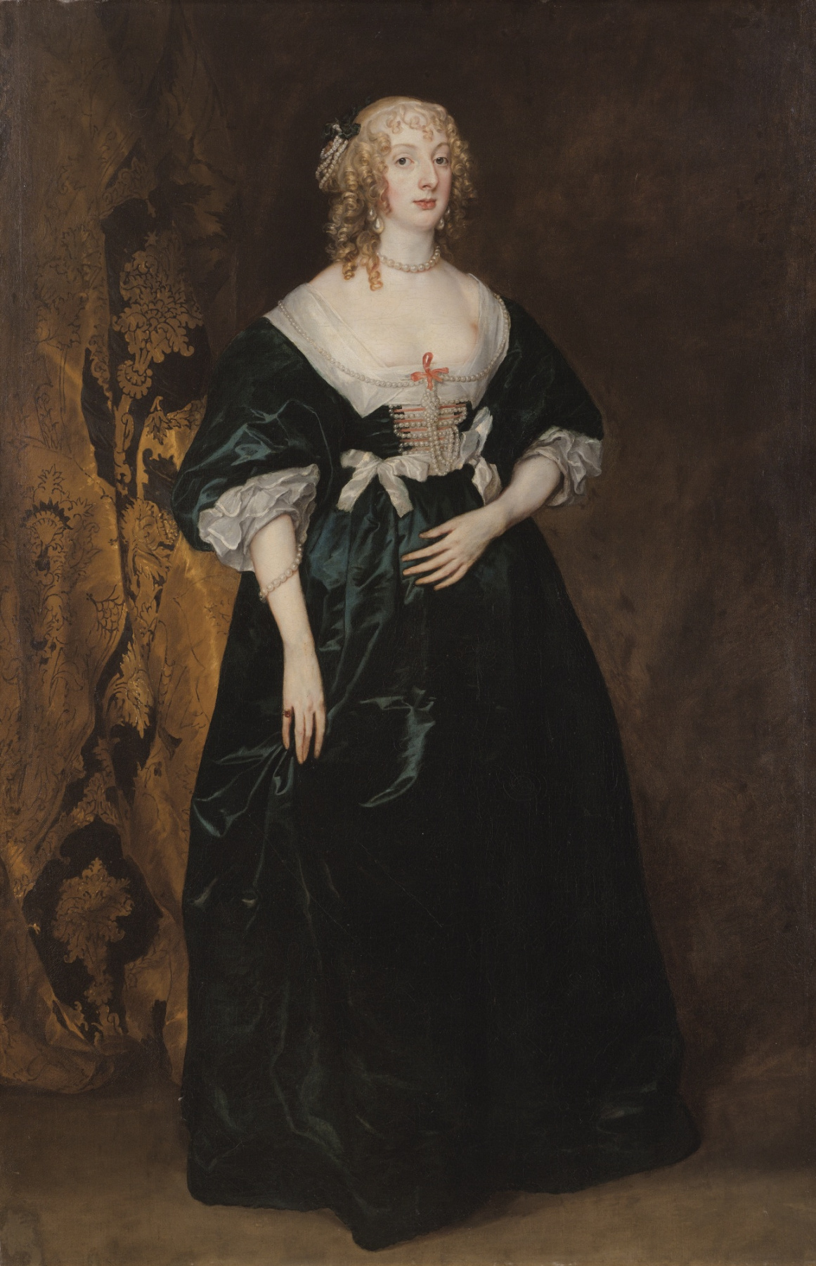 Anthony van Dyck. Portrait of Anne Sophia, Countess of Carnarvon