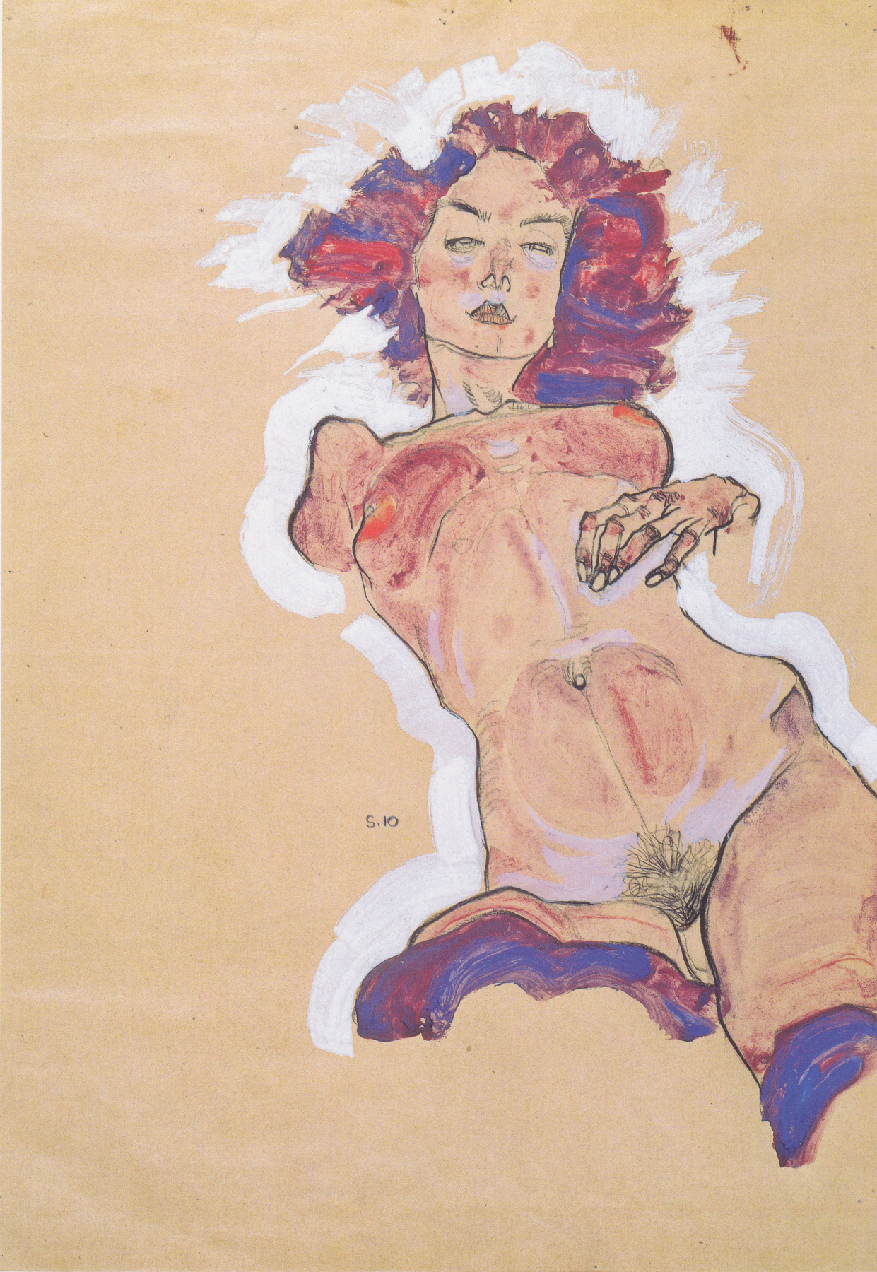 Egon Schiele. Nude