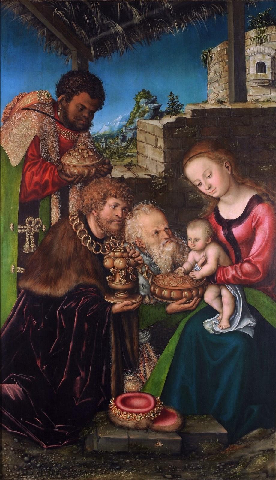 Lucas Cranach the Elder. The adoration of the Magi