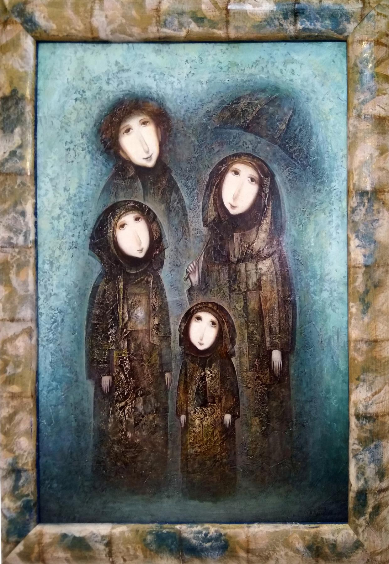 Amur Kochishvili. A family. Rain
