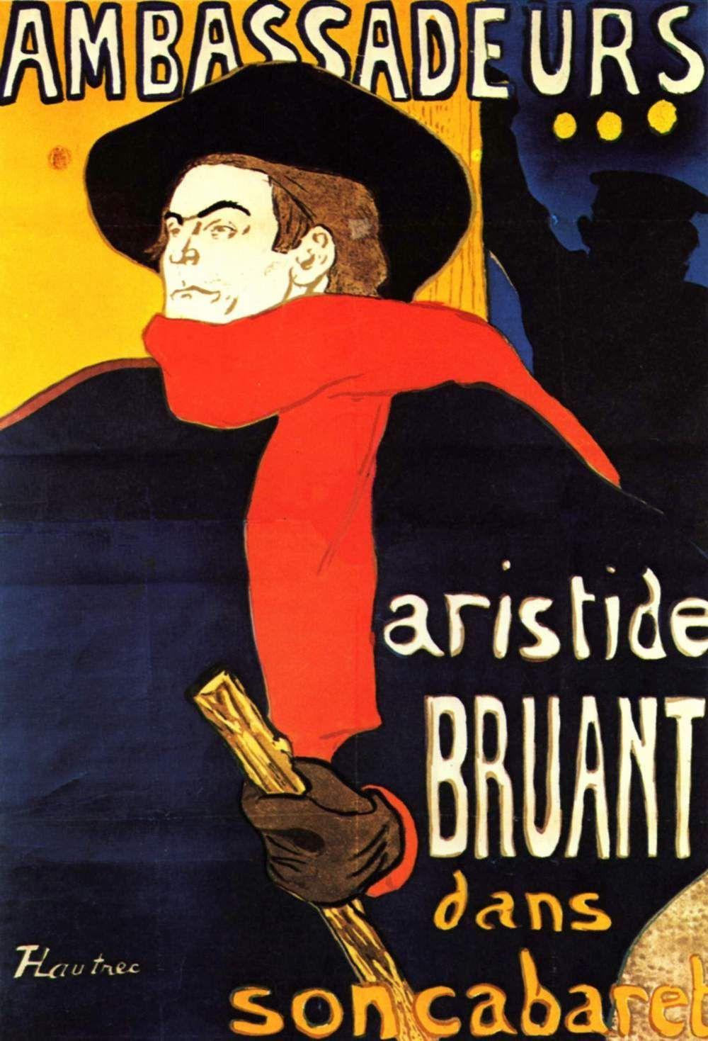 Henri de Toulouse-Lautrec. Ambassadors: Aristide Bruant in his cabaret