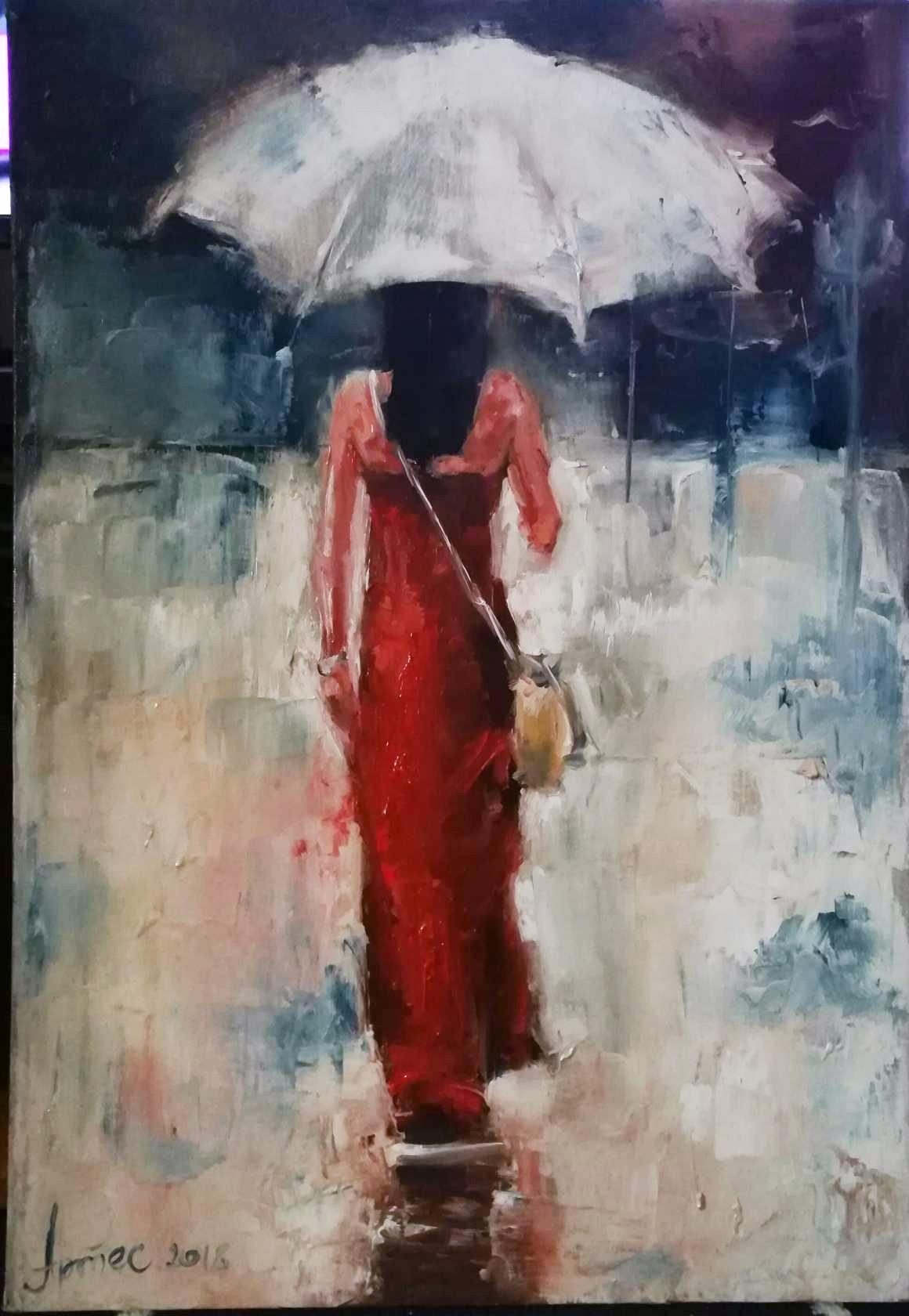 Olga Yuryevna Serebrova-Artes. Lady in Red