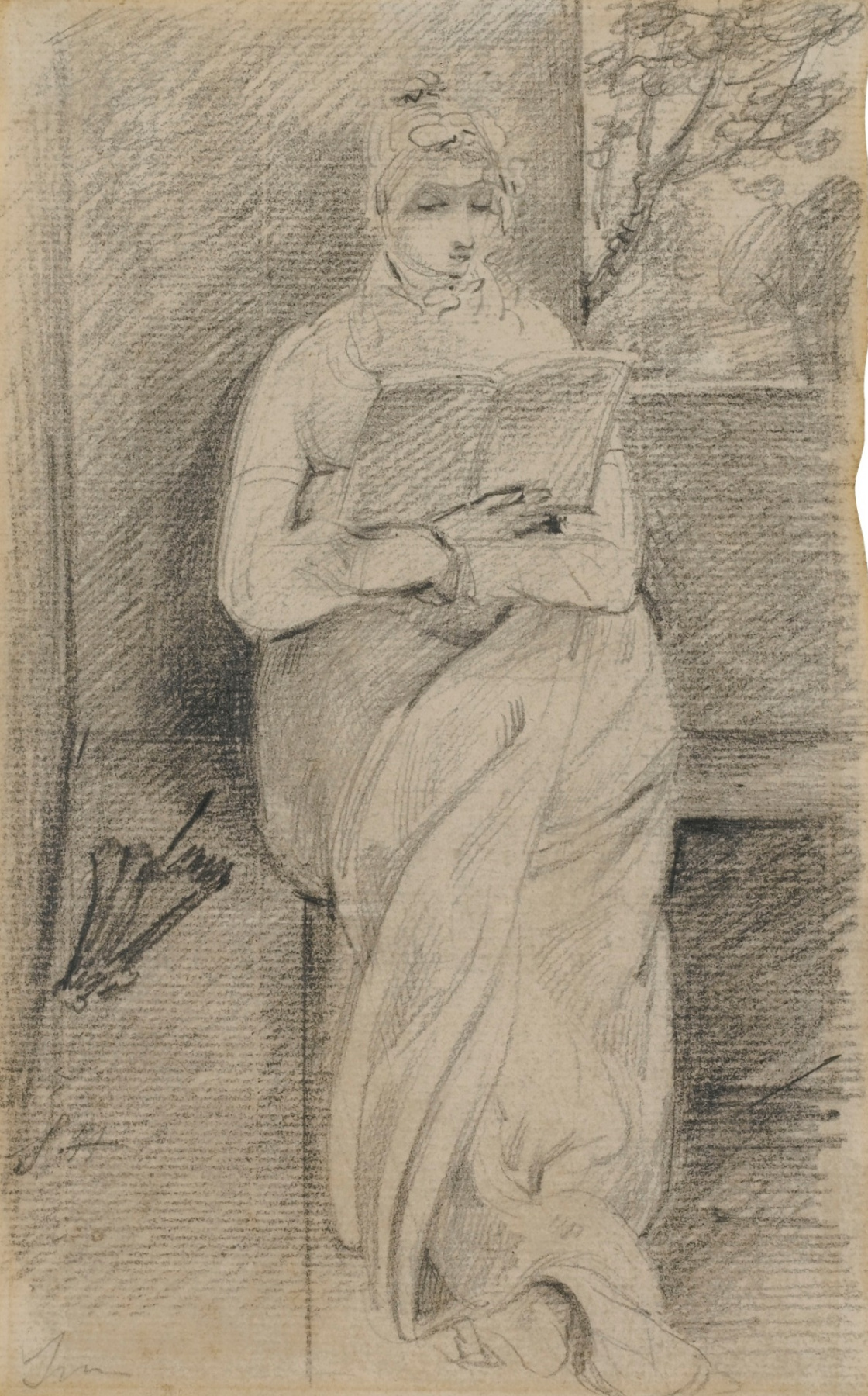 John Constable. Portrait of Suzanne Hobson with a book