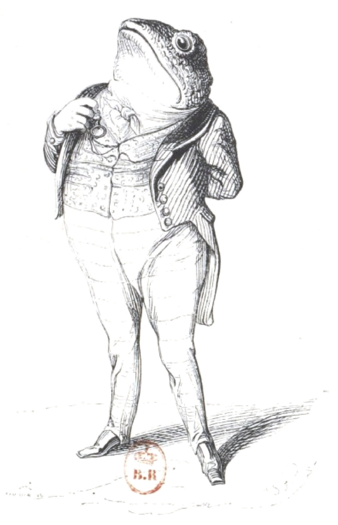 "Jean Inias Isidore (Gerard) Granville. Toad: everyone owes his country! ""Scenes of public and private life of animals"""