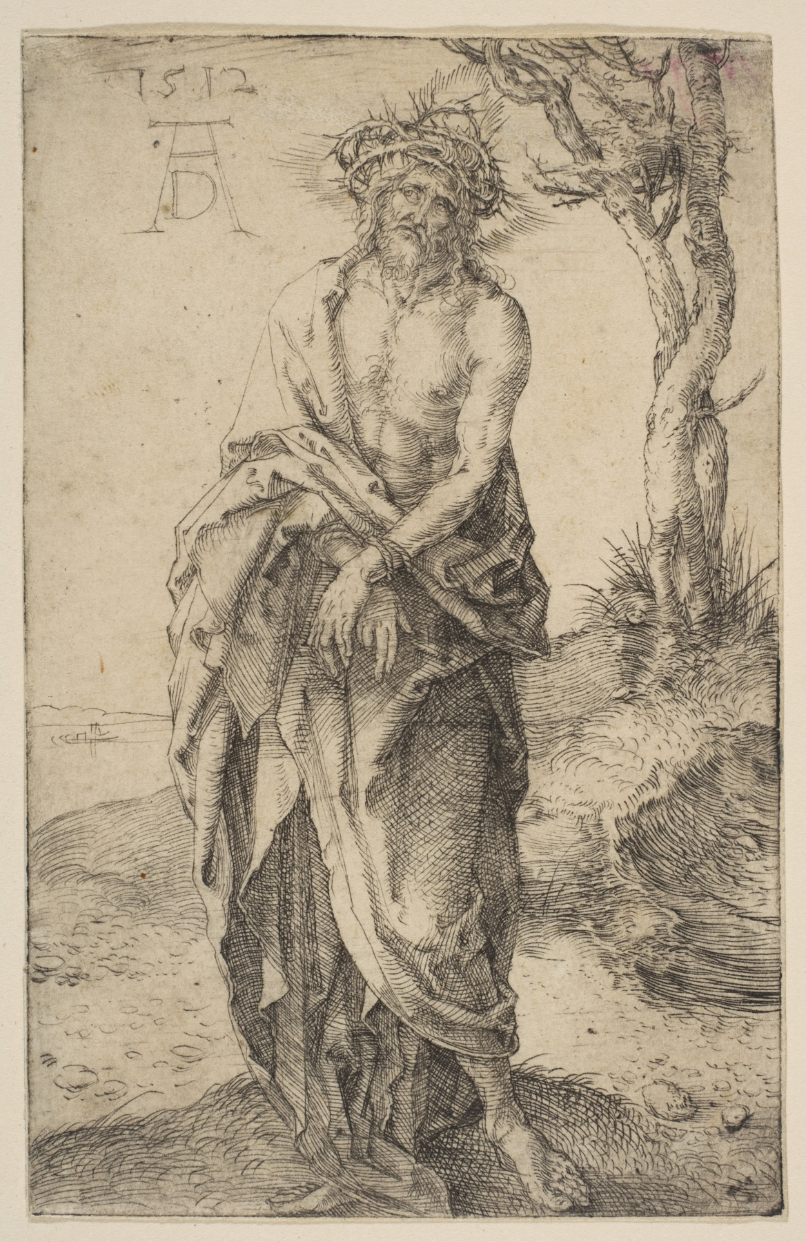 Albrecht Dürer. A man of sorrows and with his hands tied