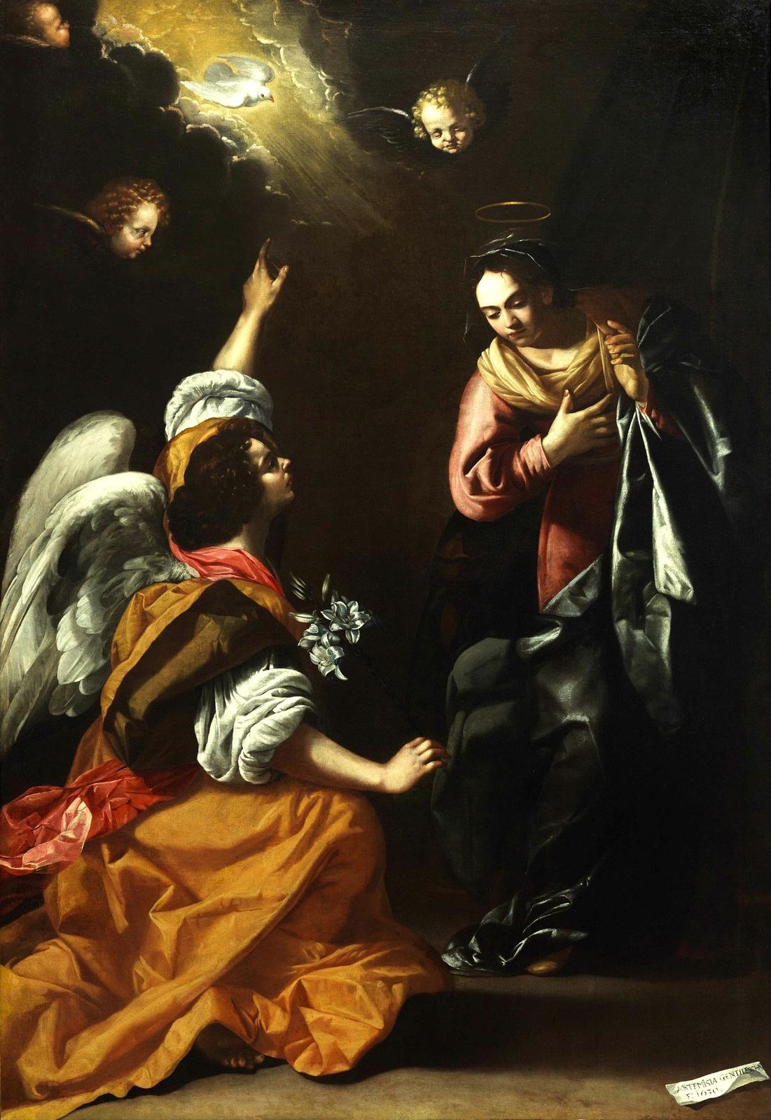 Artemisia Gentileschi. Annunciation