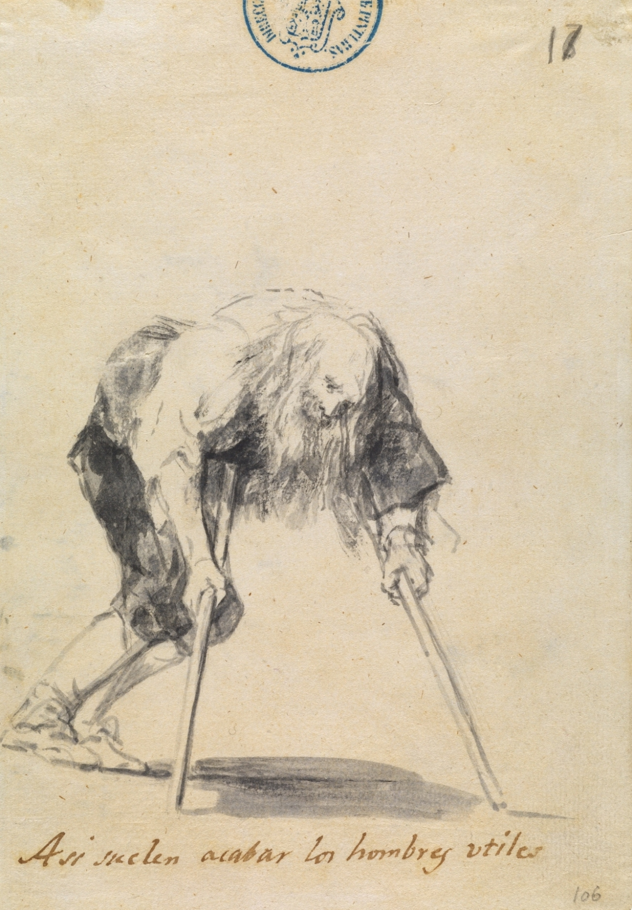 "Francisco Goya. ""This is the end of the people."" Drawings from the series ""Beggars, cripples ..."""