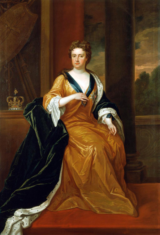 Чарльз Джервас. Королева Анна (по мотивам портрета Годфри Неллера 1705 года)