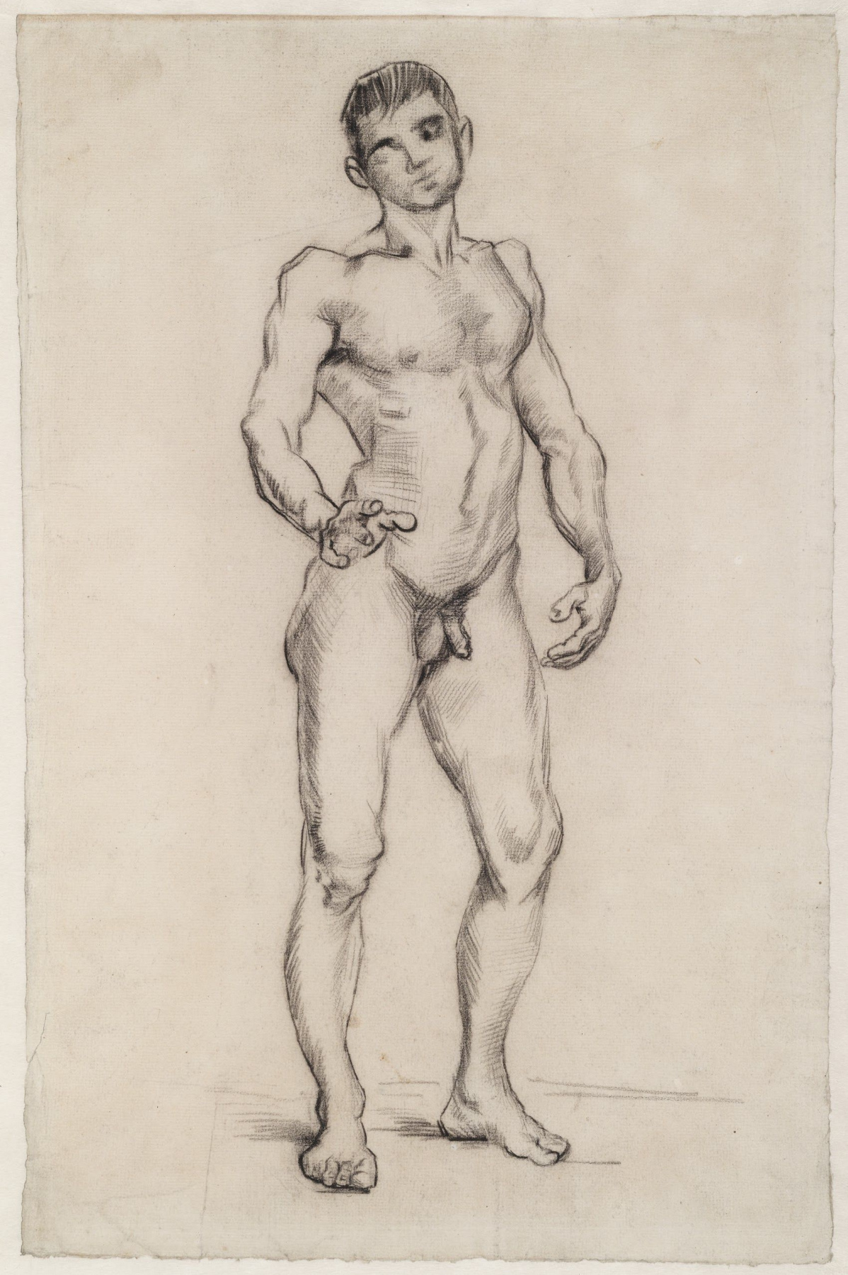 Vincent van Gogh. Naked man standing, front view