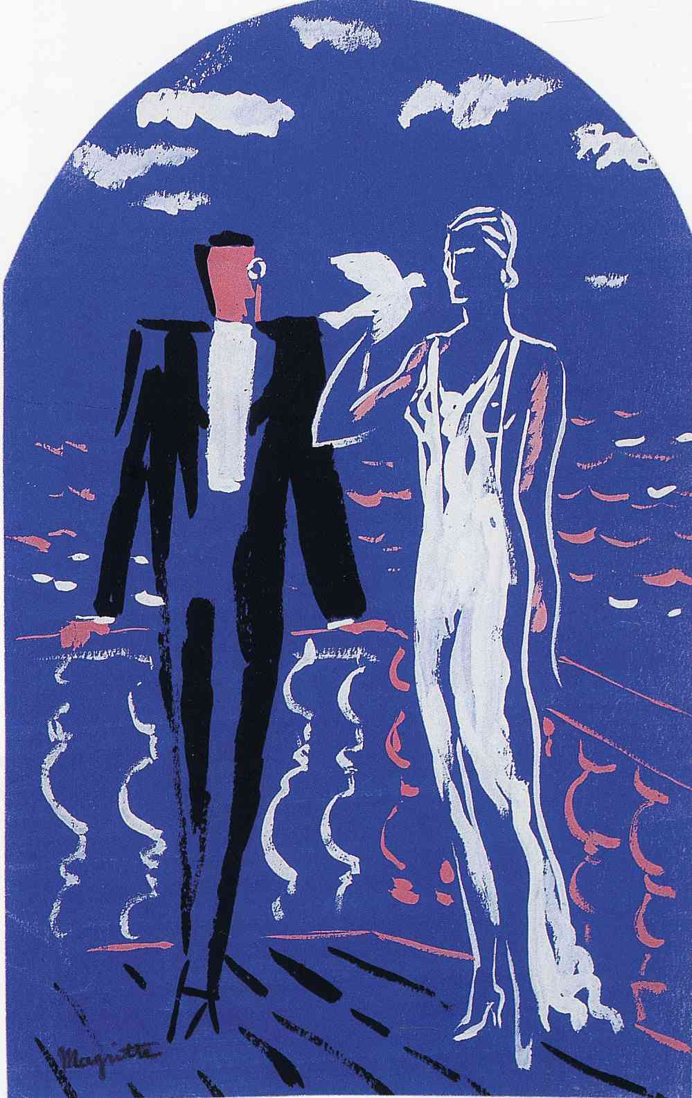 René Magritte. The draft mural for the fashion house Norine