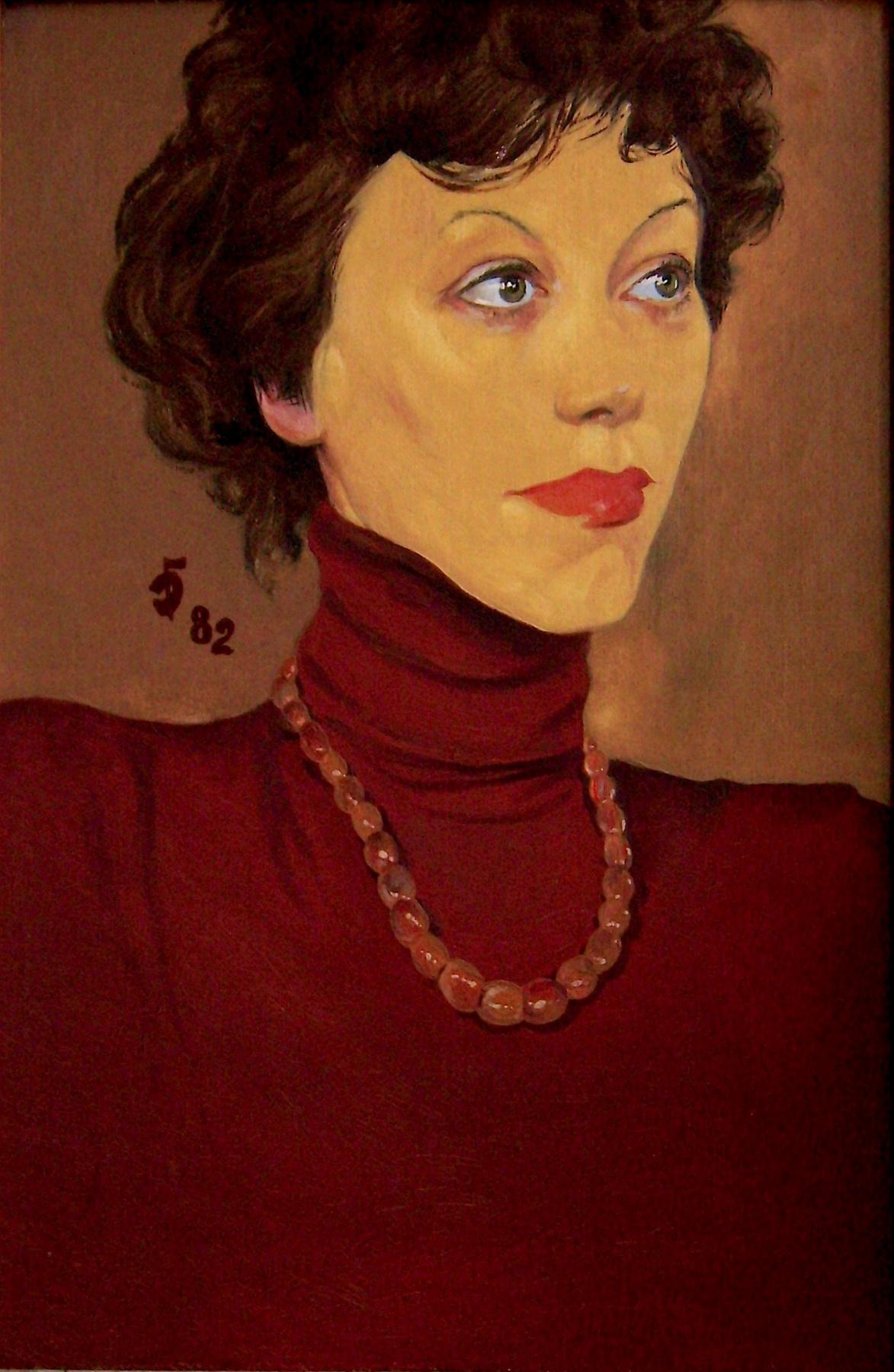 David Shikovich Brodsky. Girl with beads