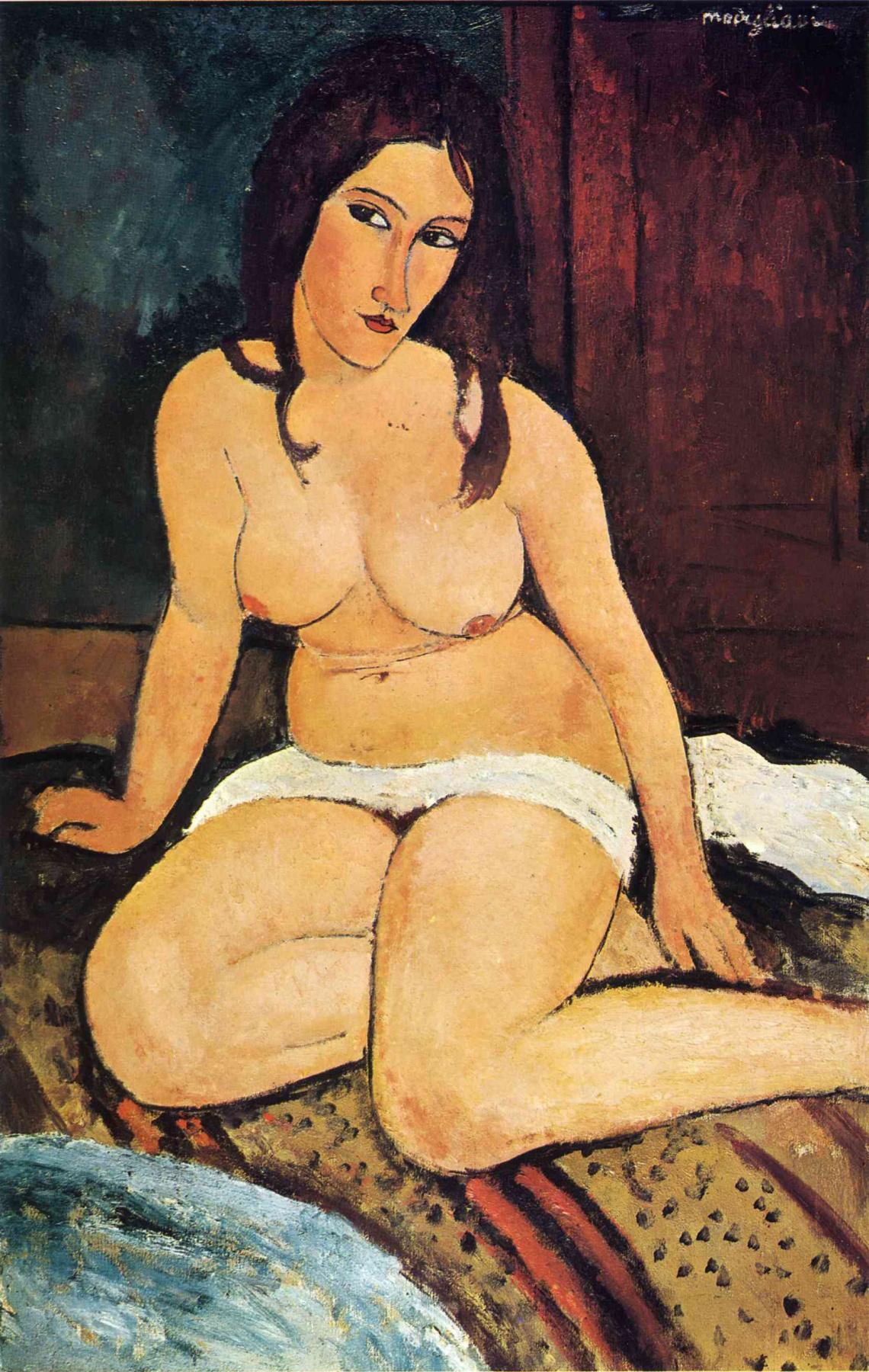 Amedeo Modigliani. Seated Nude