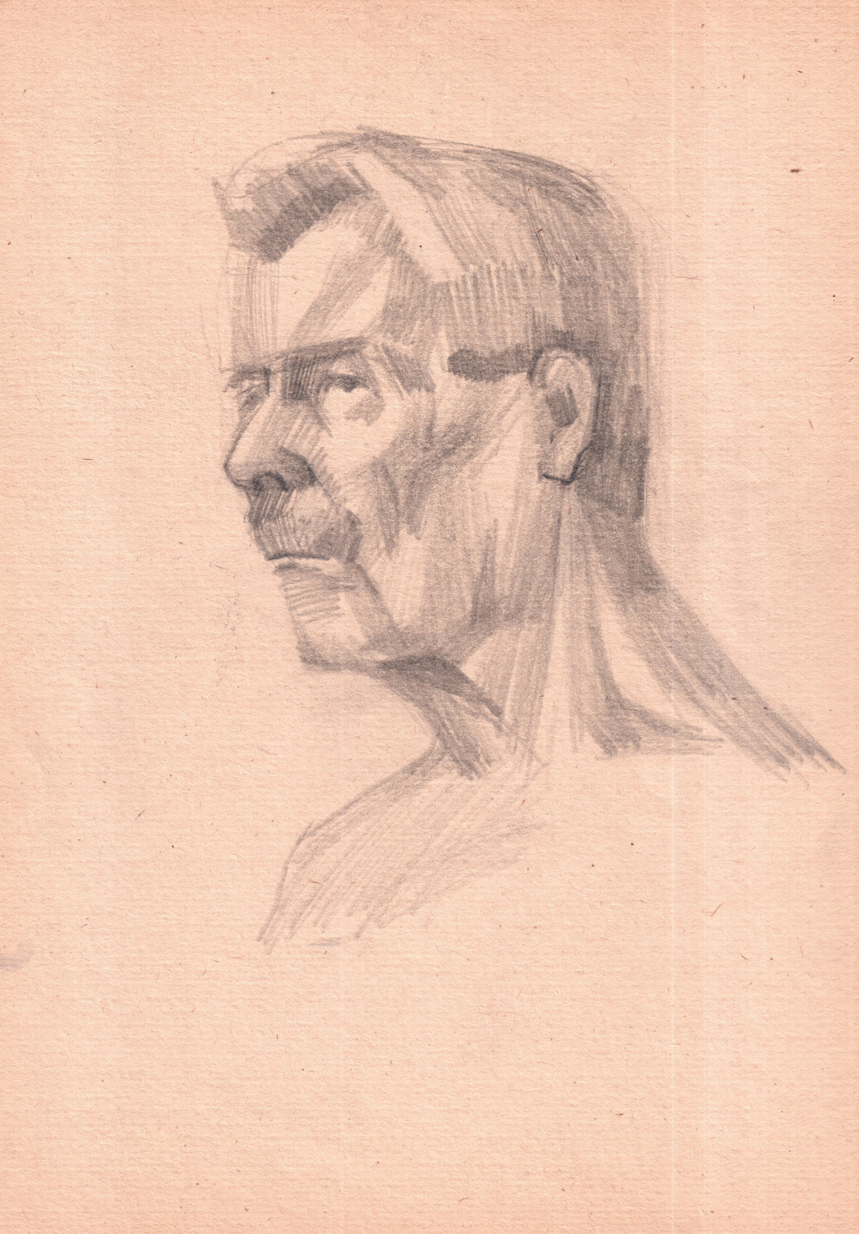 Arkady Pavlovich Laptev. Sketch of the elderly man