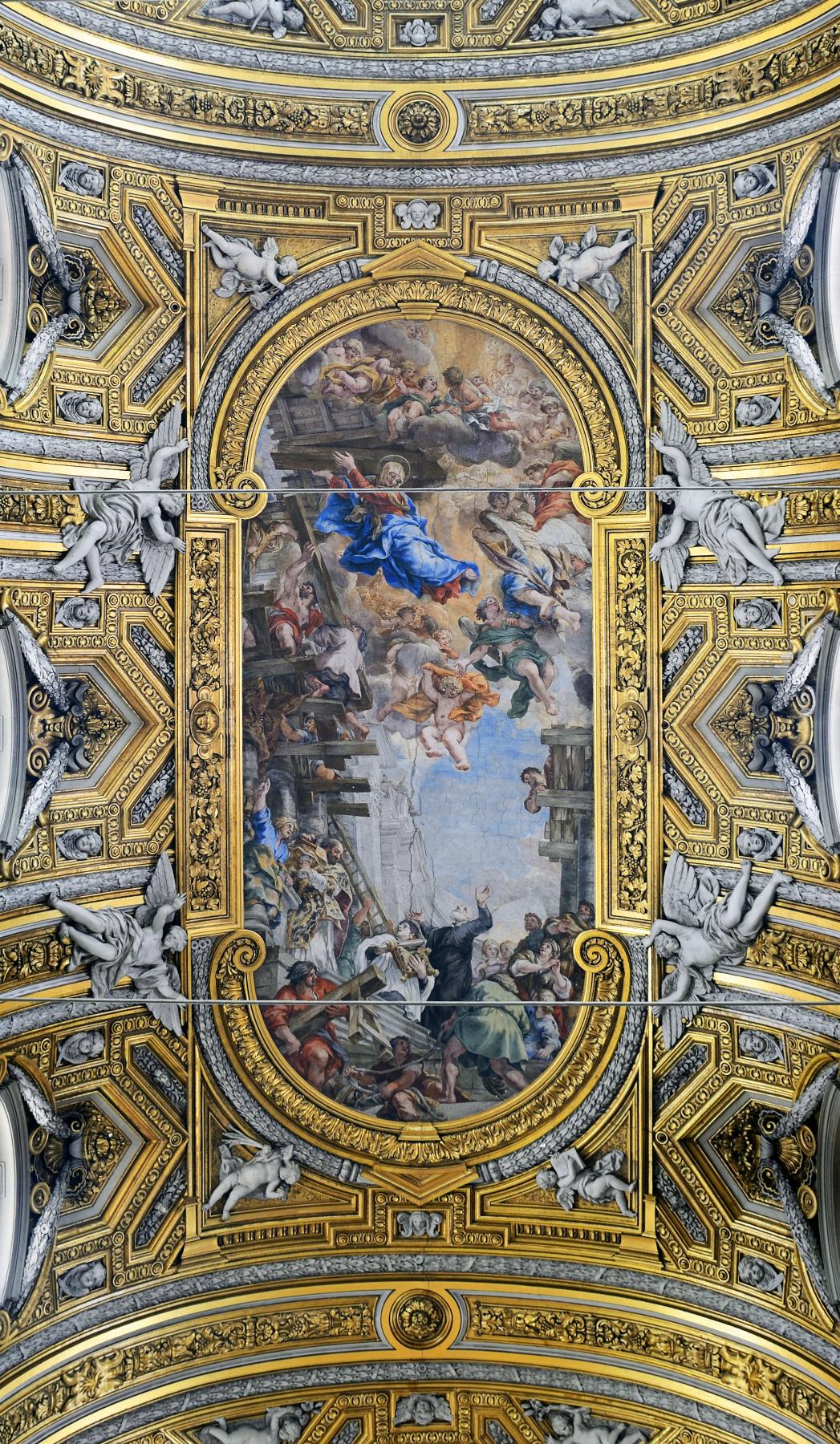Pietro Da Cortona. Madonna and Saint Filippo Nerri
