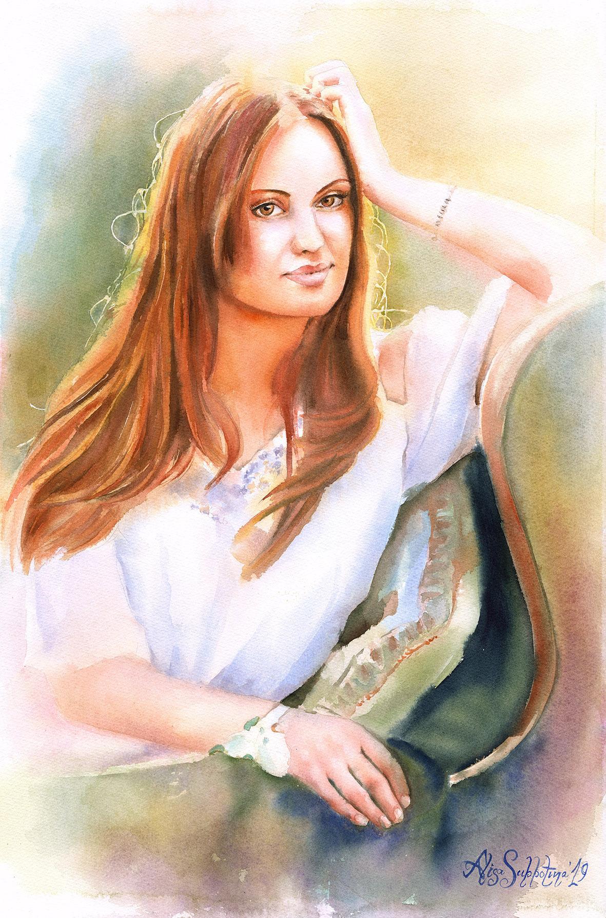 "Alisa Alexandrovna Subbotina. ""In the rays of the orange sun"""