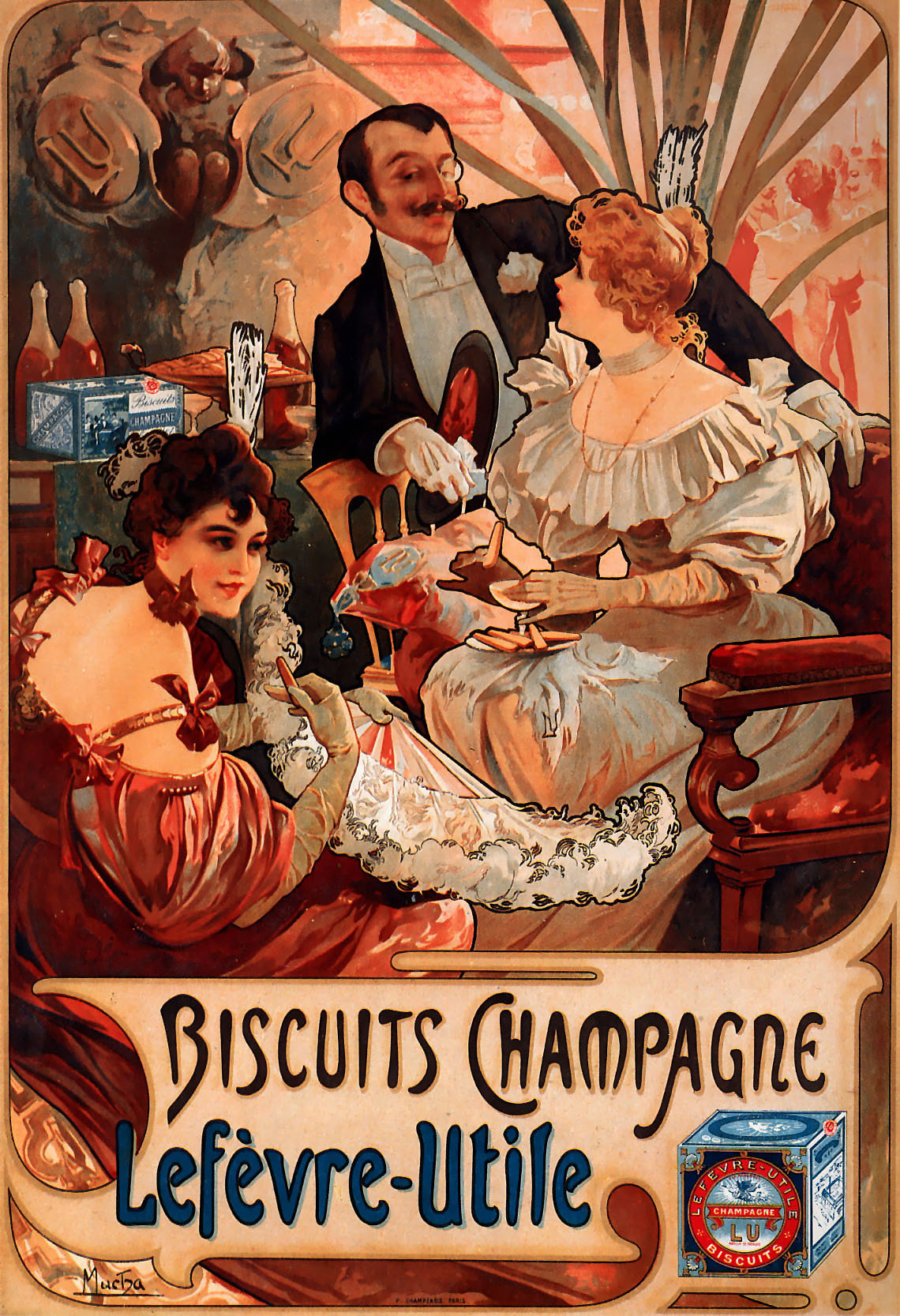 Alphonse Mucha. Advertising poster for manufacturer of biscuits