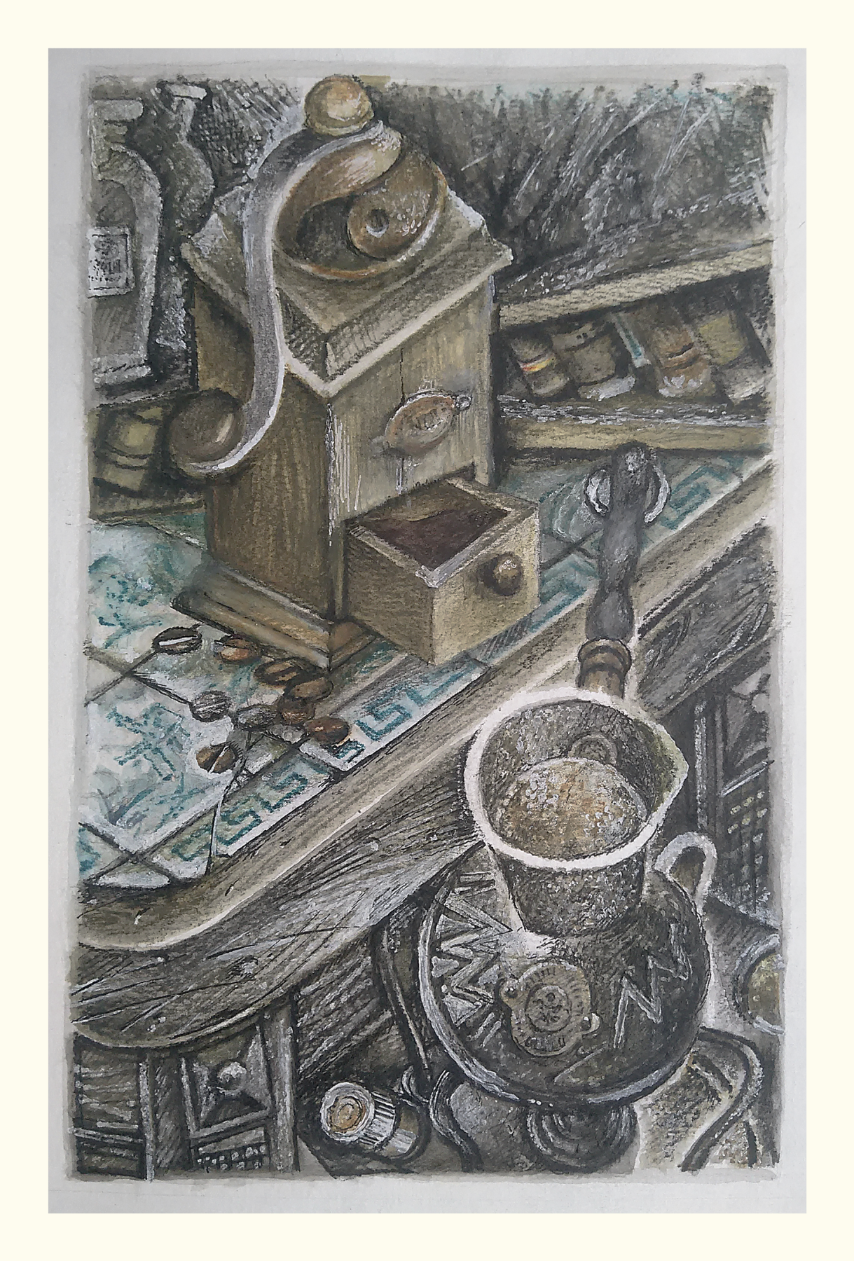 Sergei Yurievich Smilga. Still life with a coffee pot 2