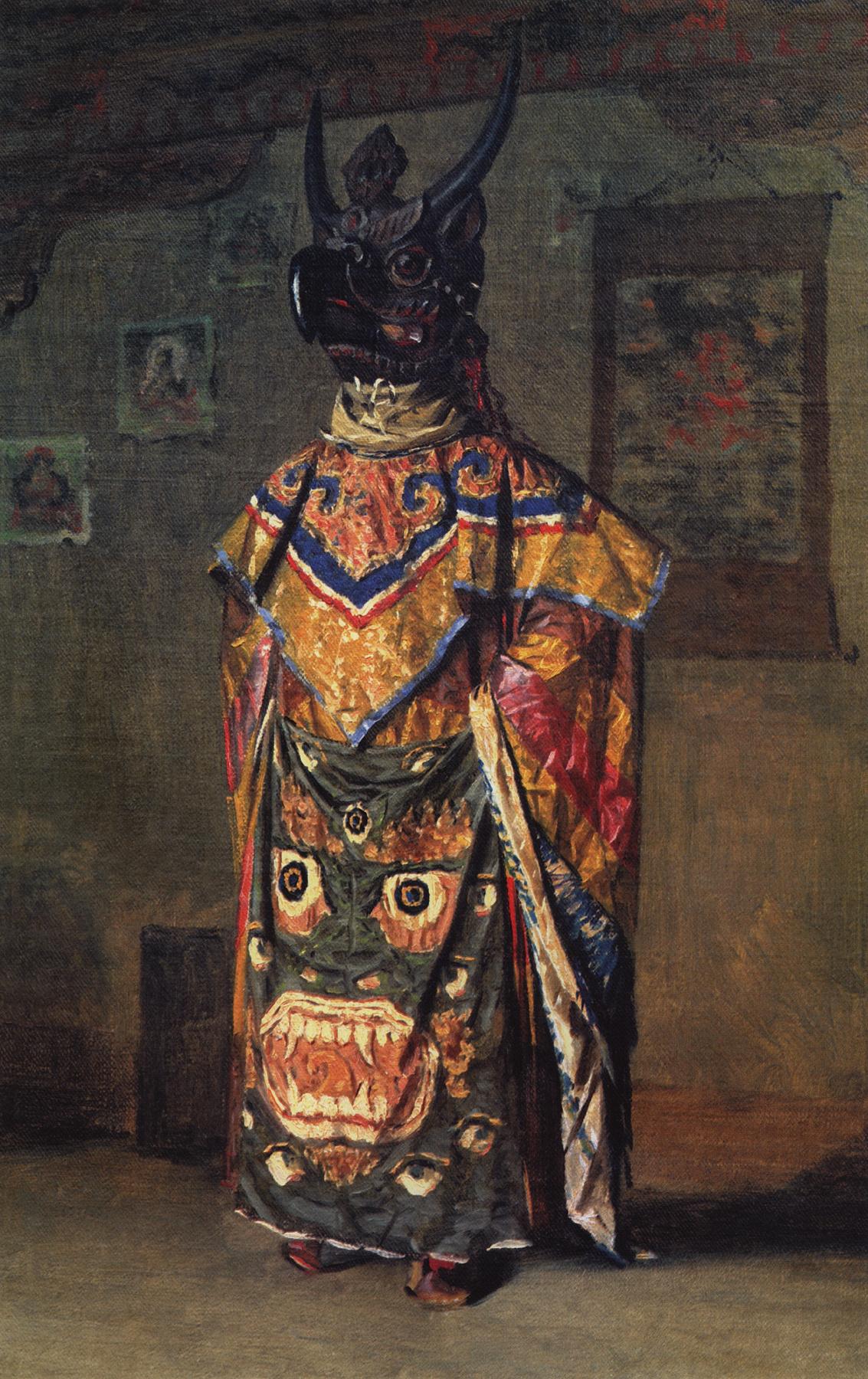 Vasily Vereshchagin. Buddiskogo Lama at the festival in the monastery