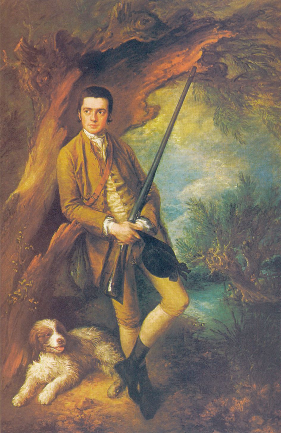 Thomas Gainsborough. William the point of Midgham and his dog amber