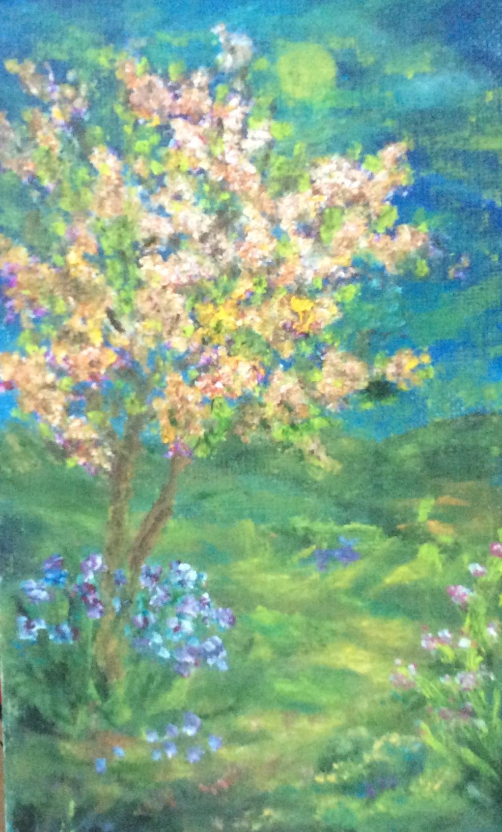 Rita Arkadievna Beckman. Moon and blooming almonds
