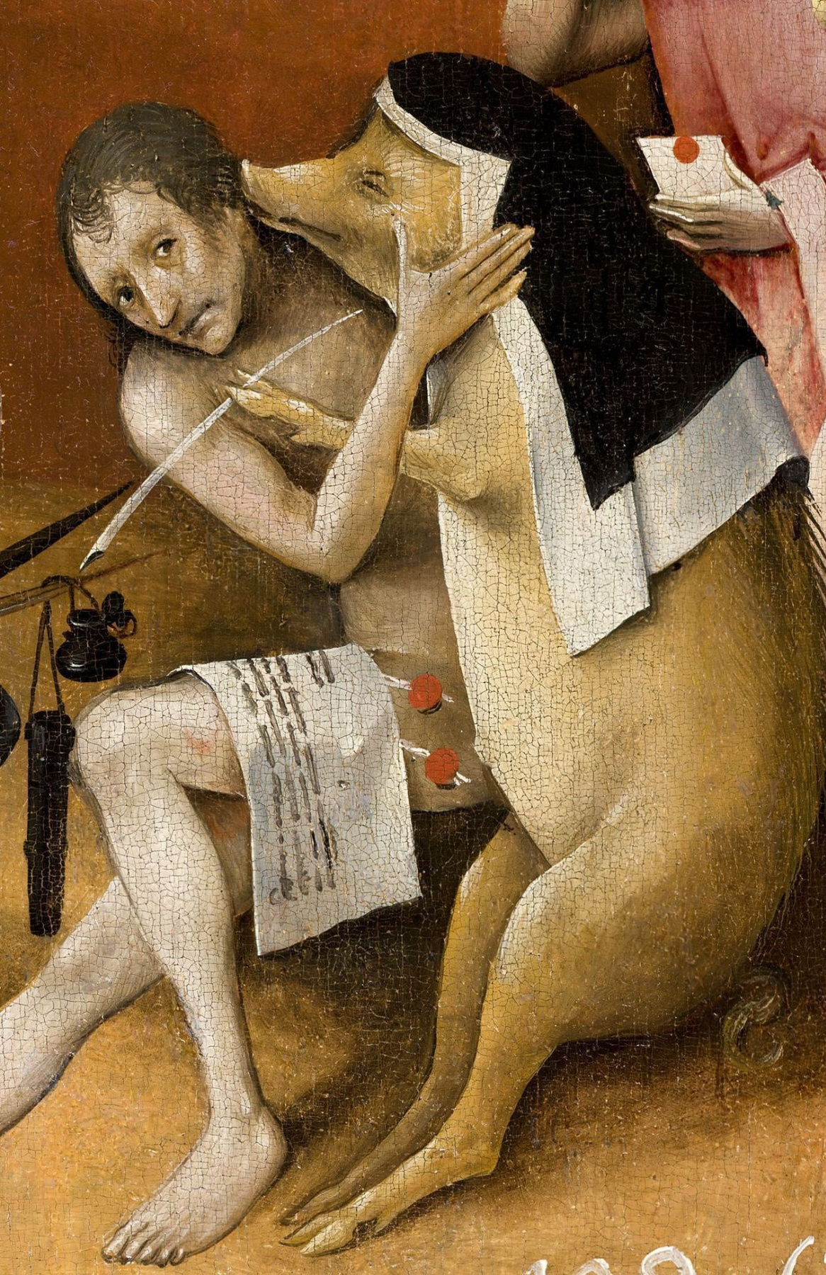 Hieronymus Bosch. The garden of earthly delights. Right wing. Fragment