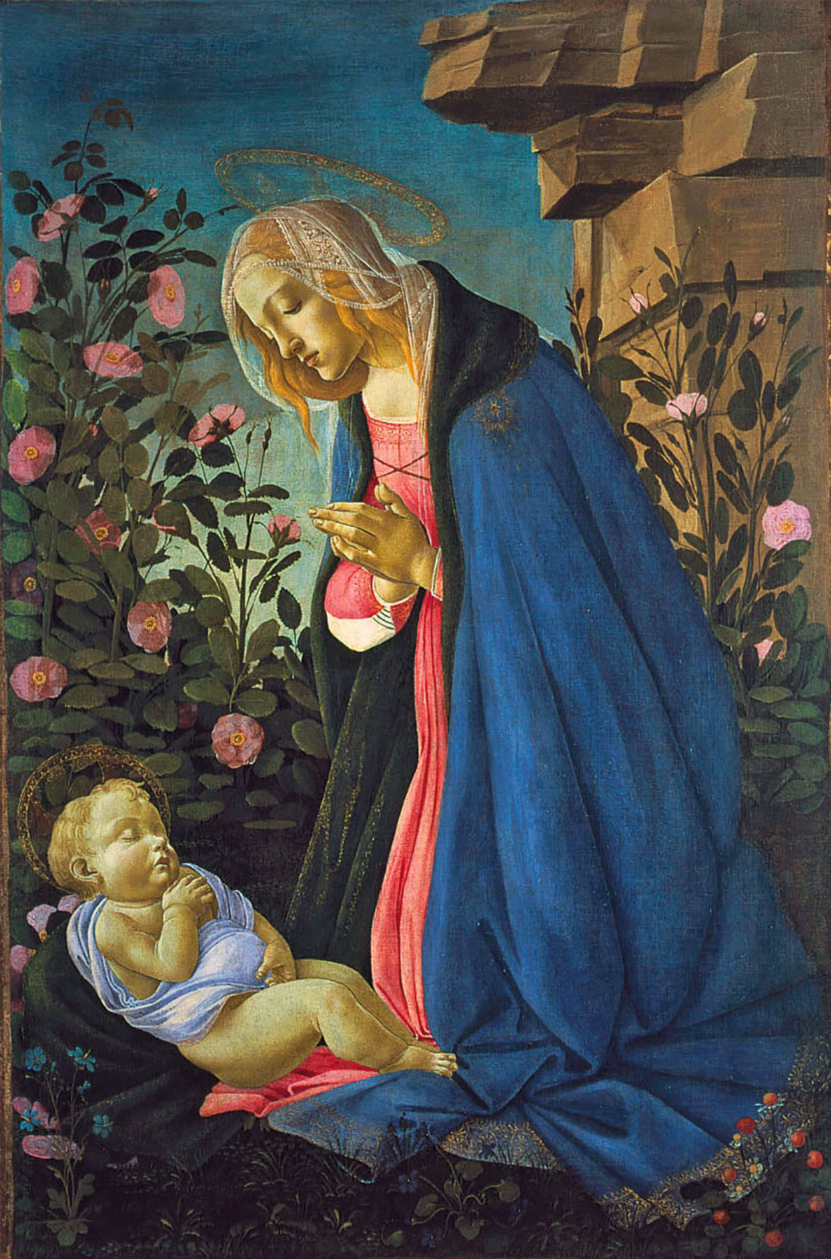 Sandro Botticelli. Madonna in front of a sleeping baby
