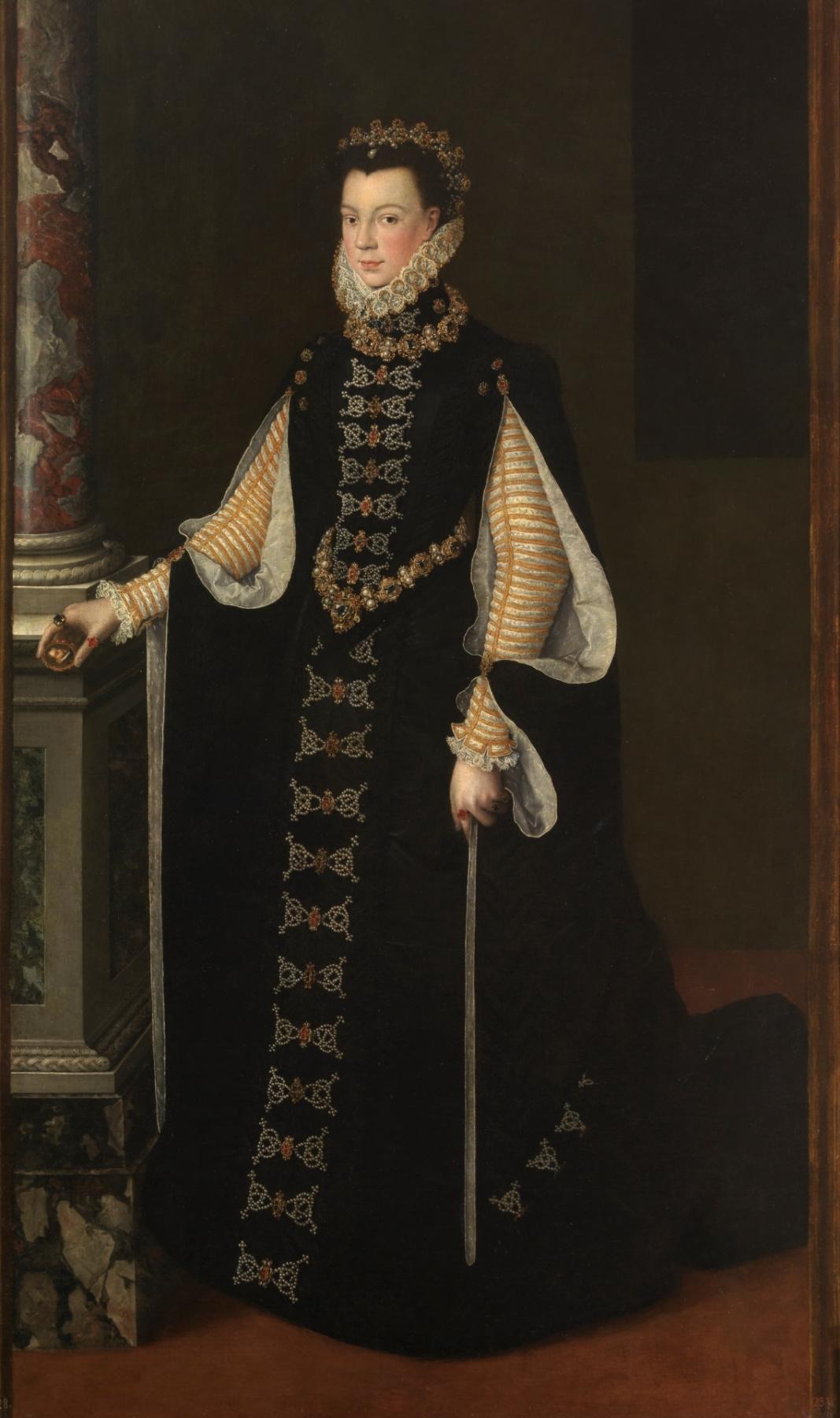 Софонисба Ангвиссола. Изабелла Валуа с портретом Филиппа II