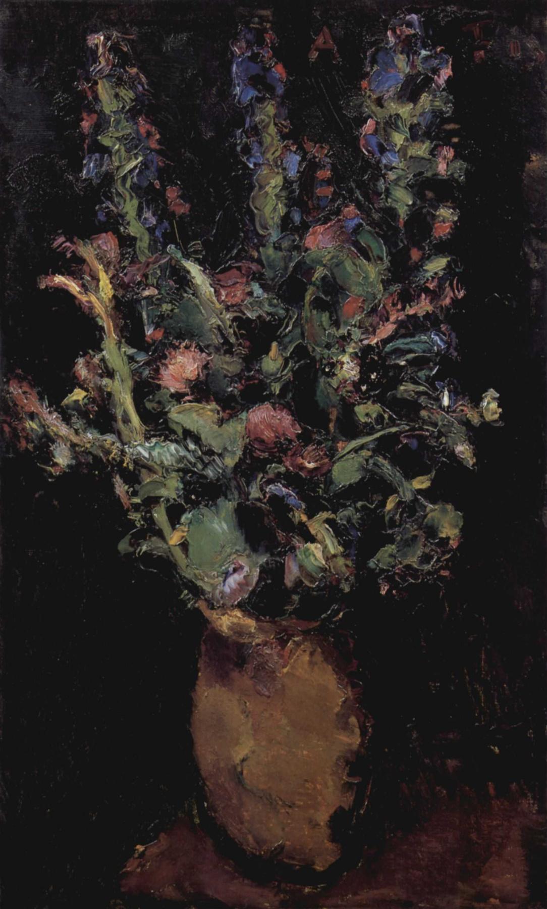 Anton Faistauer. Flower still life with Larkspur