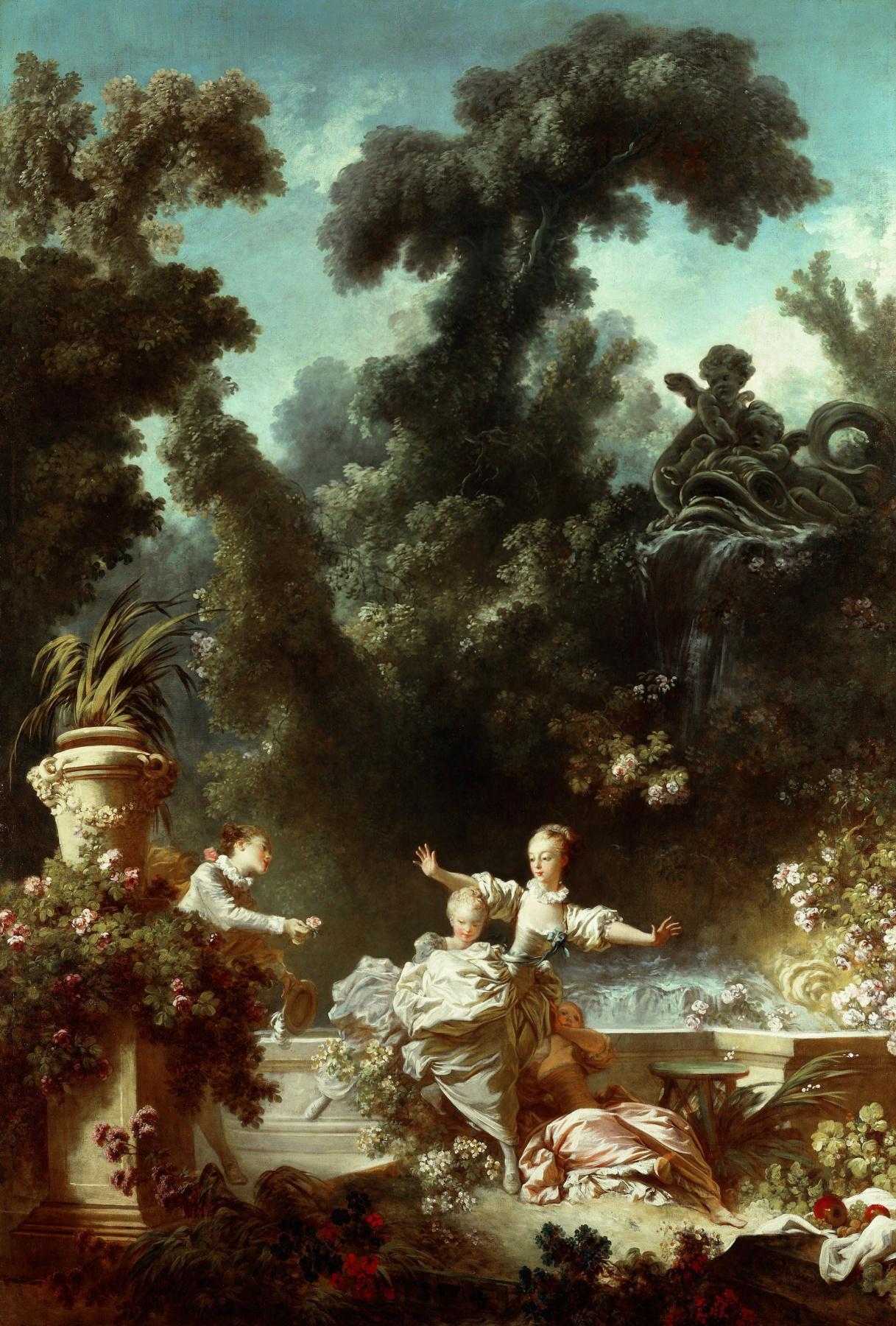 "Jean Honore Fragonard. Prosecution. From series of paintings ""Love adventure"""