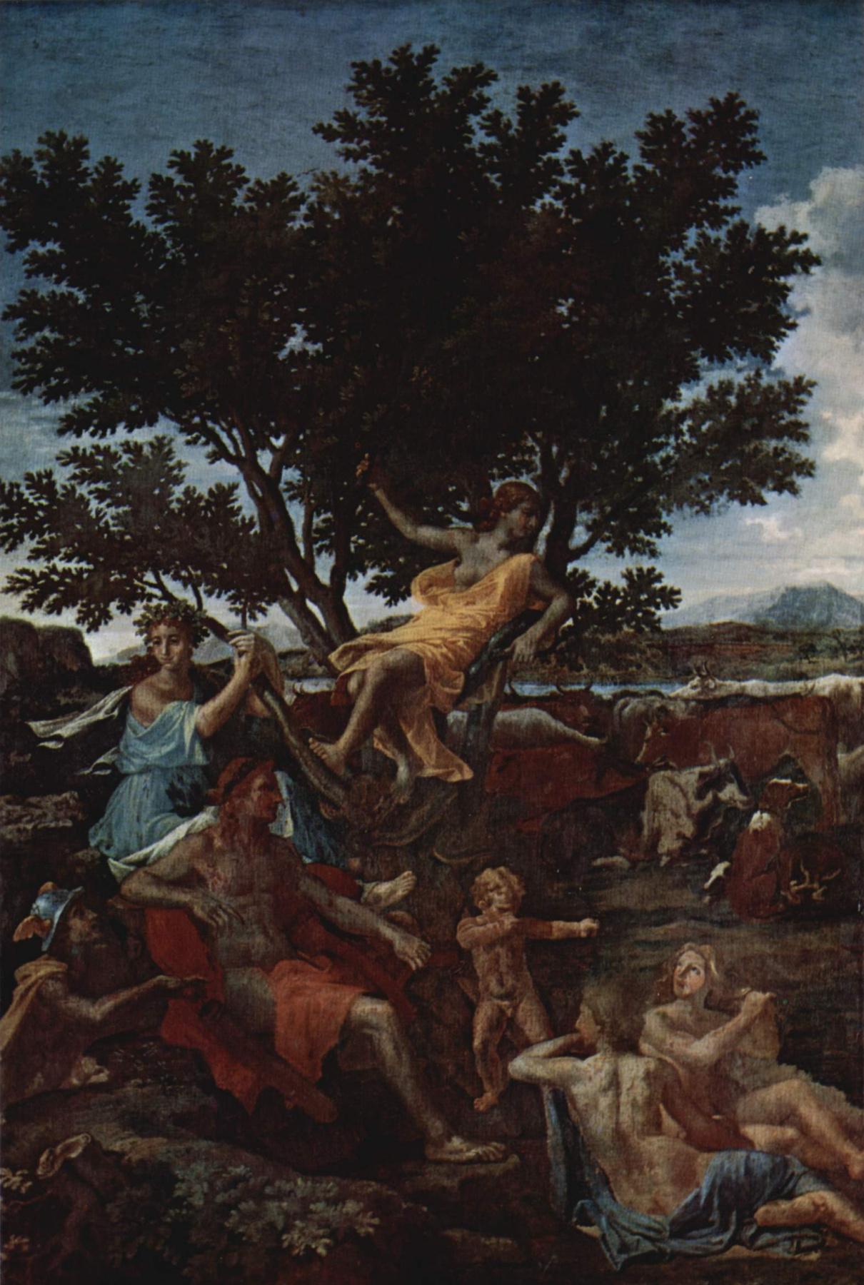 Nicola Poussin. Apollo and Daphne