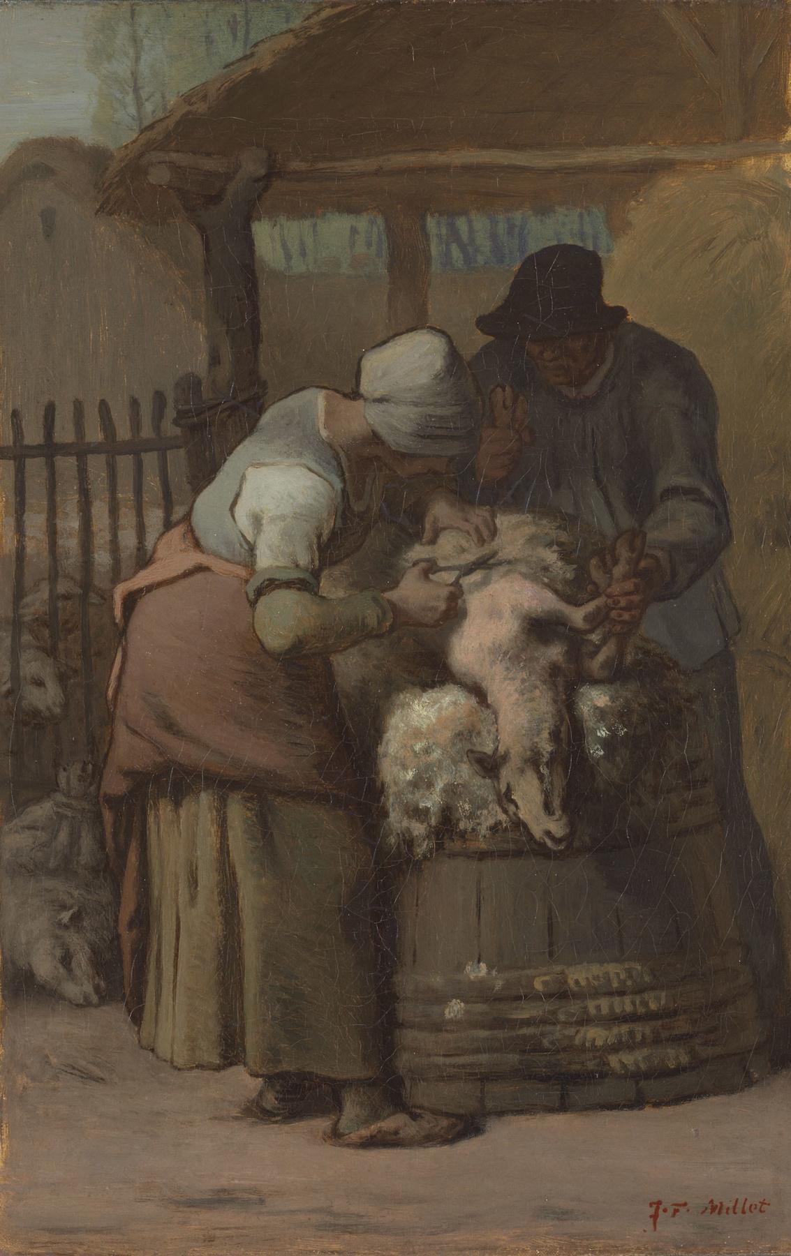 Jean-François Millet. The Sheepshearers