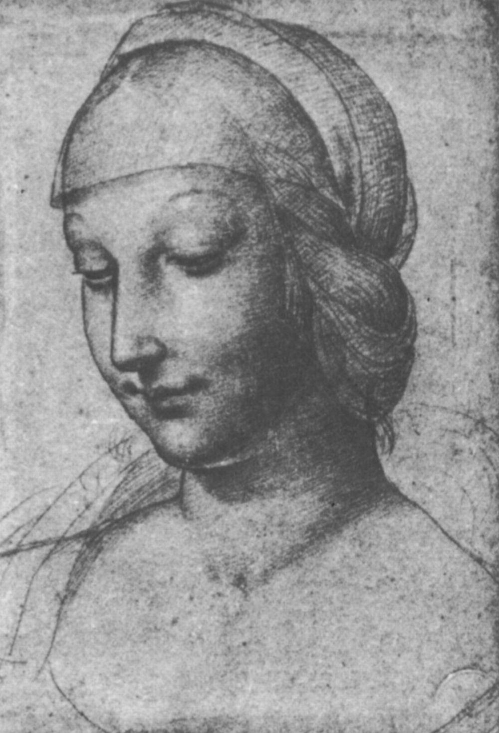 Raphael Sanzio. The woman's head half-turned