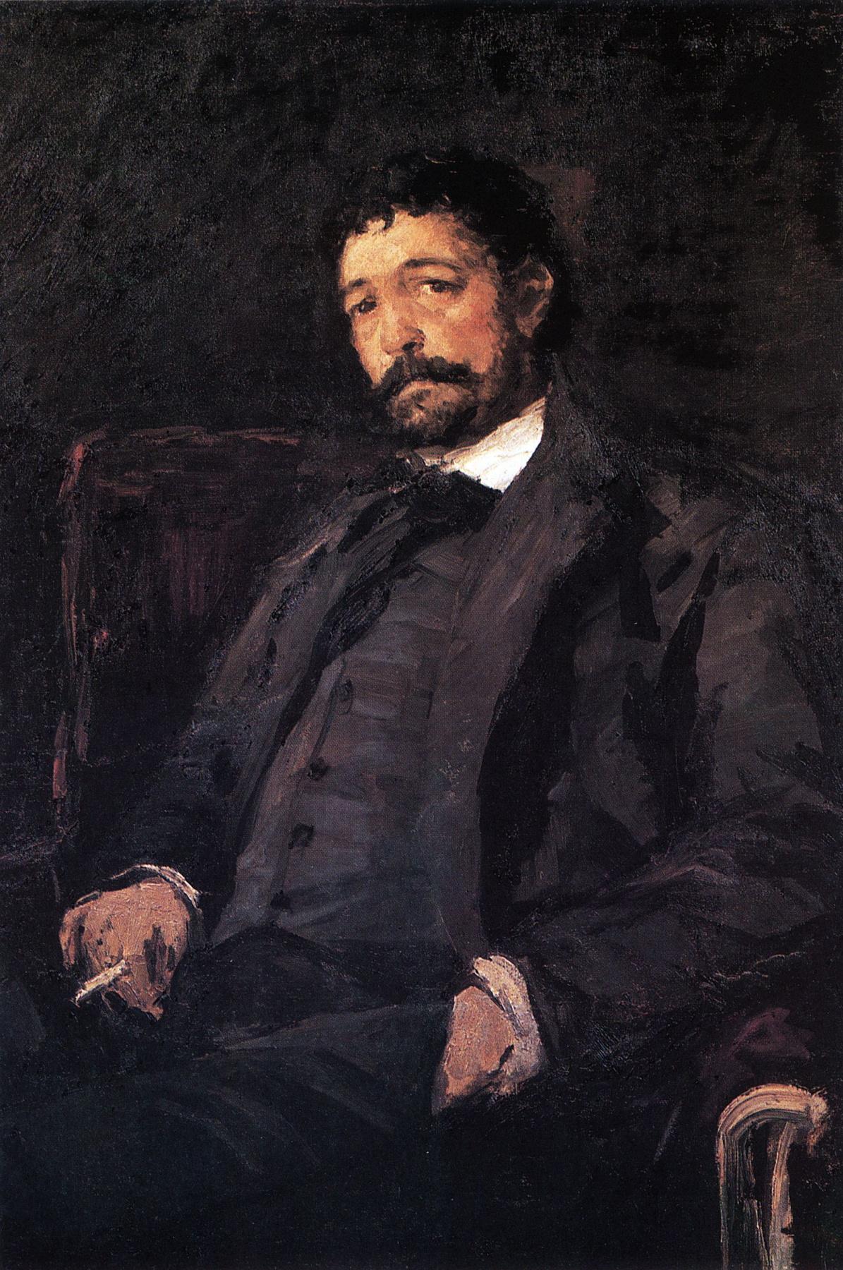 Konstantin Korovin. Portrait of Italian singer Angelo mazini