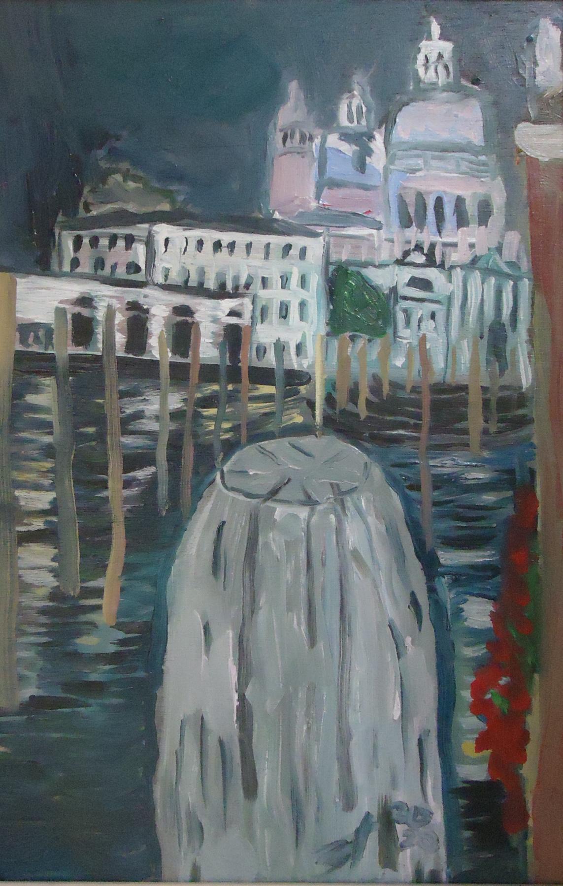 Sergey Vladimirovich Sebini. Venice at night. View of the Basilica of Santa Maria della Salute
