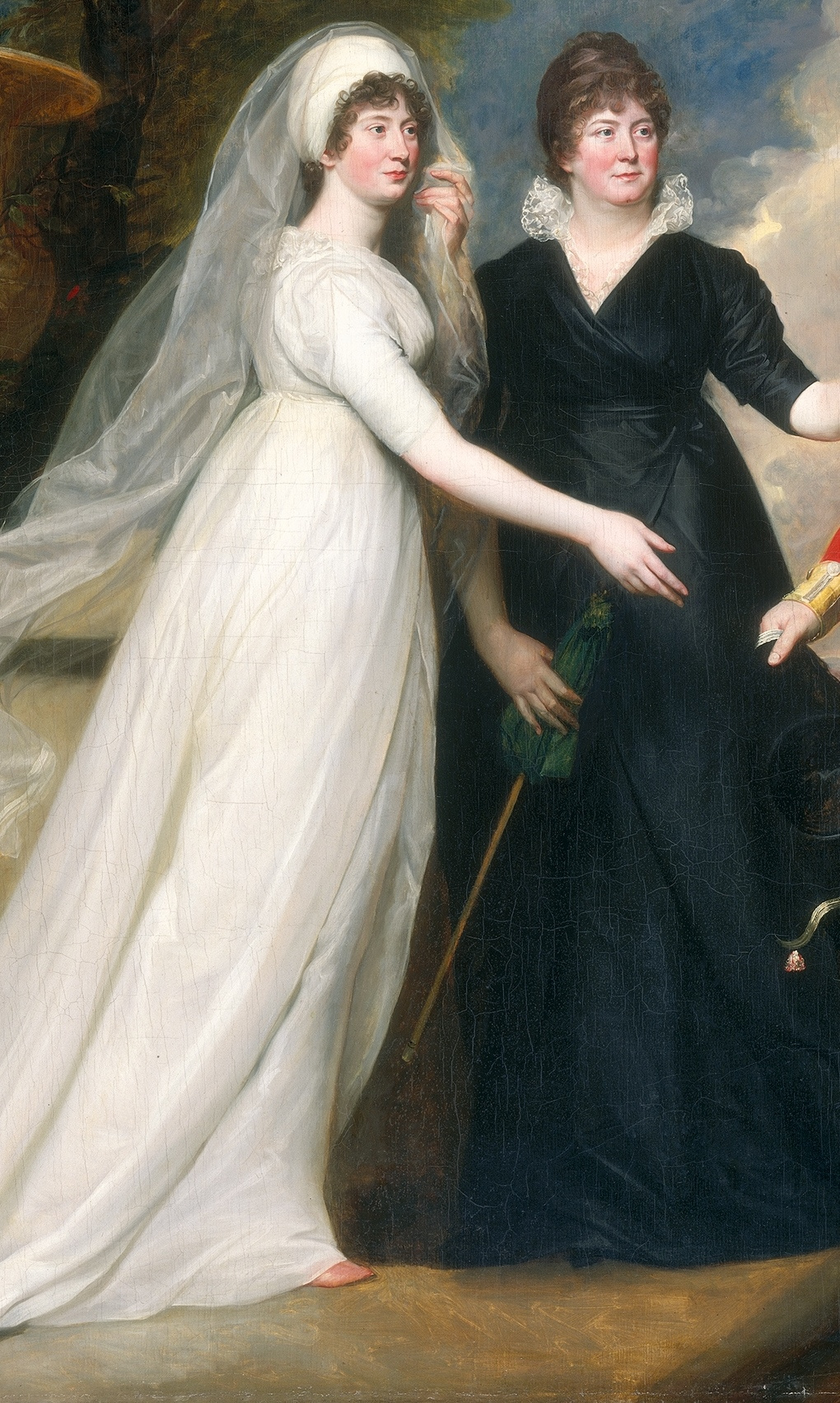 John Singleton Copley. Colonel William Fitch and his sisters Sarah and Ann Fitch. Fragment III