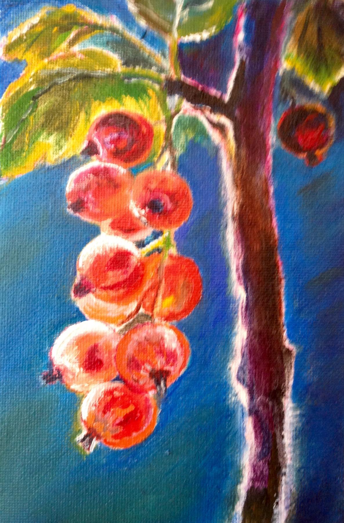 Olga Rybakova. The summer berries. Red currant.