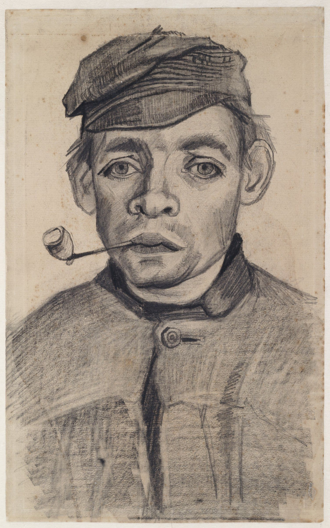 Vincent van Gogh. Head of a young man with a pipe