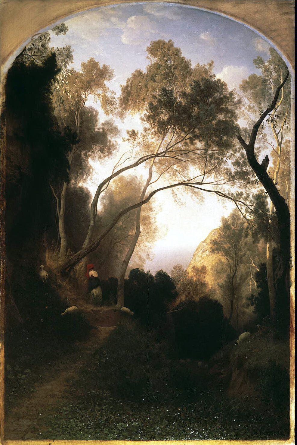 Antonio Fontanesi. Mountain trail