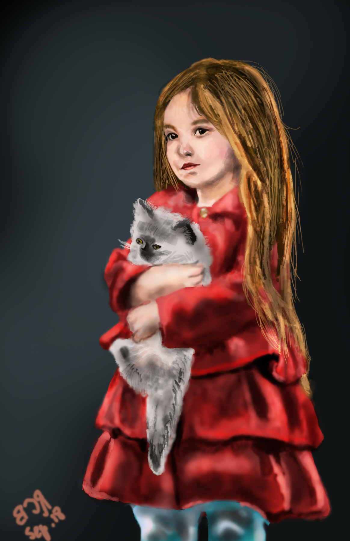 Christopher Rozario. Girl with Cat