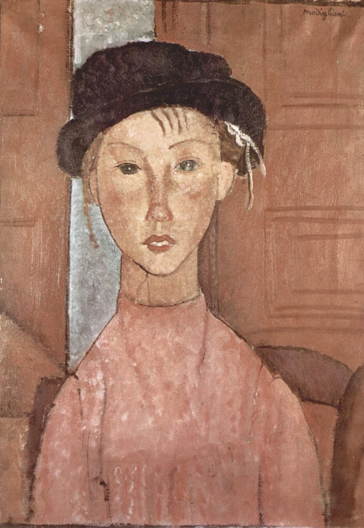 Amedeo Modigliani. The girl in the hat