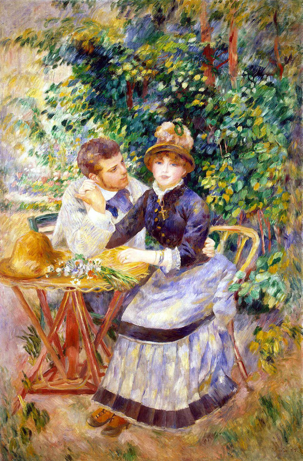 Pierre-Auguste Renoir. In the garden